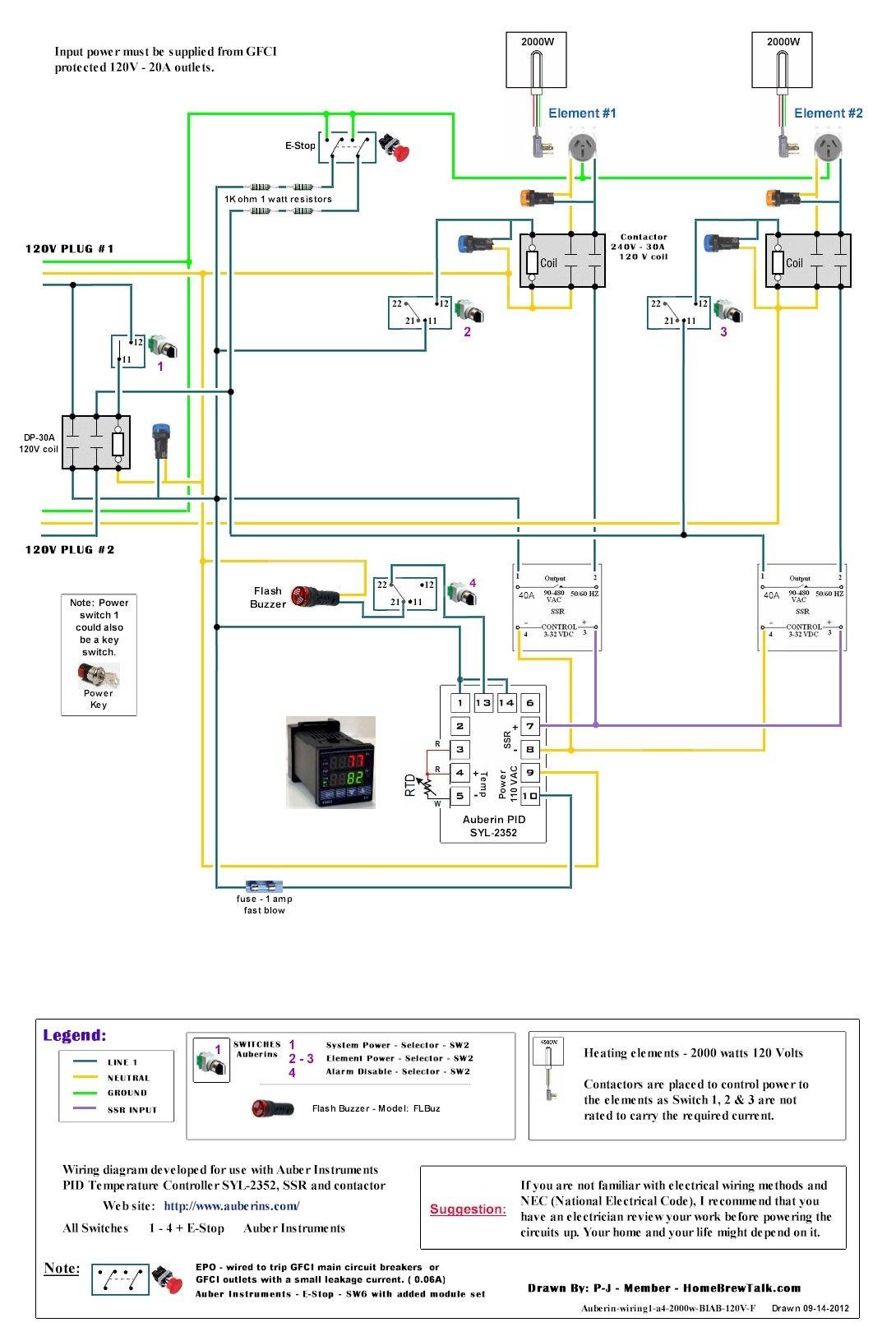Diagram · 120V Dual Element Wiring