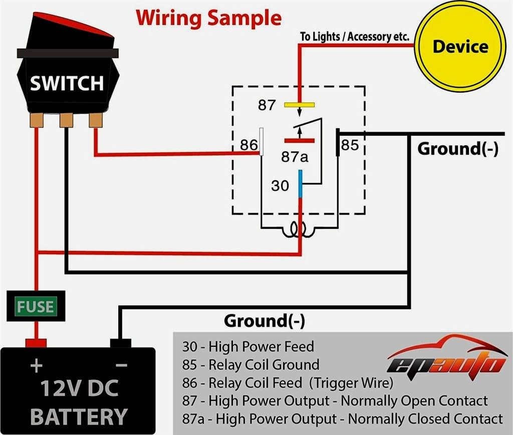 12v Relay Wiring Diagrams Org Chart Powerpoint Rink Diagram At With For 12V