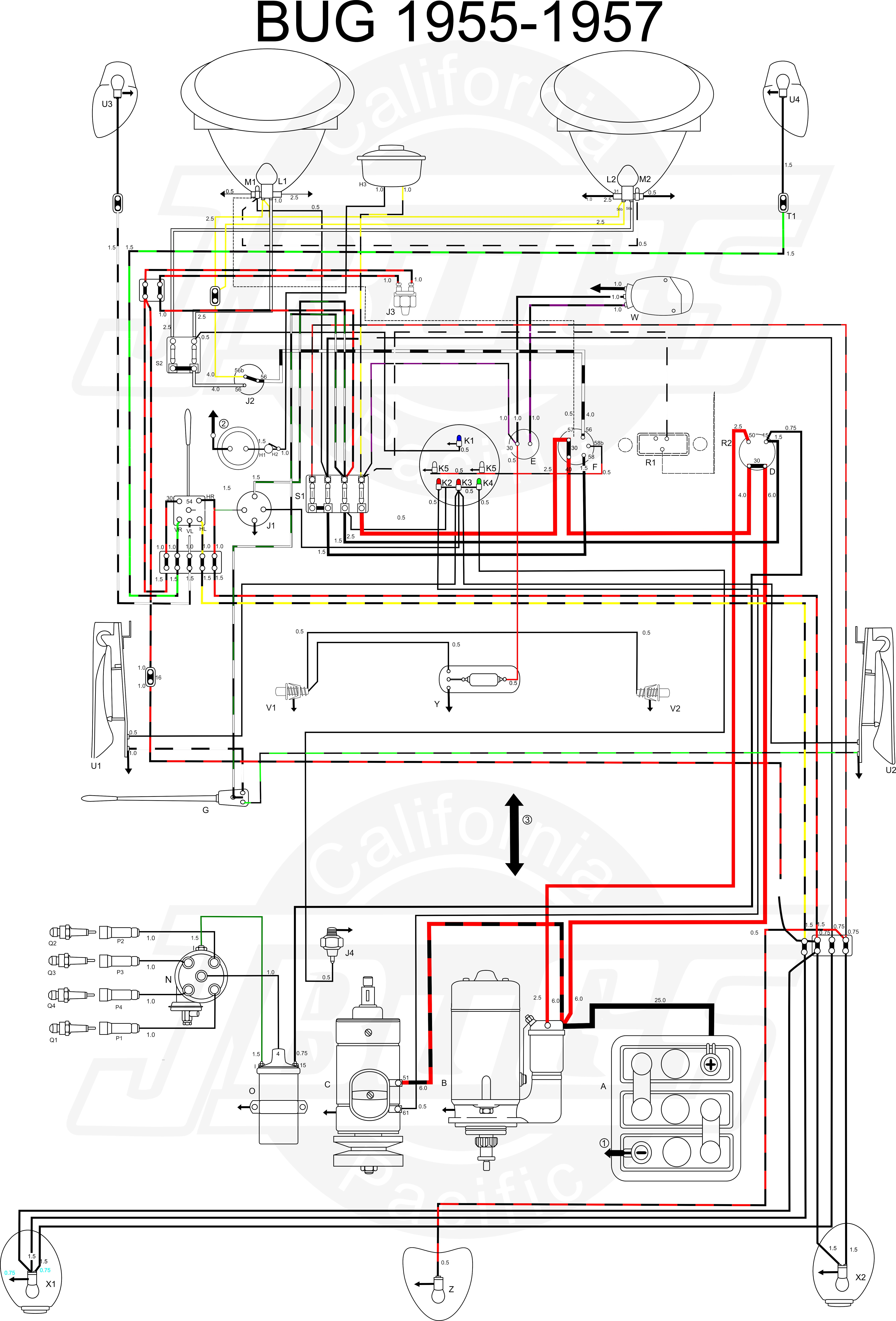 1970 vw beetle turn signal wiring diagram