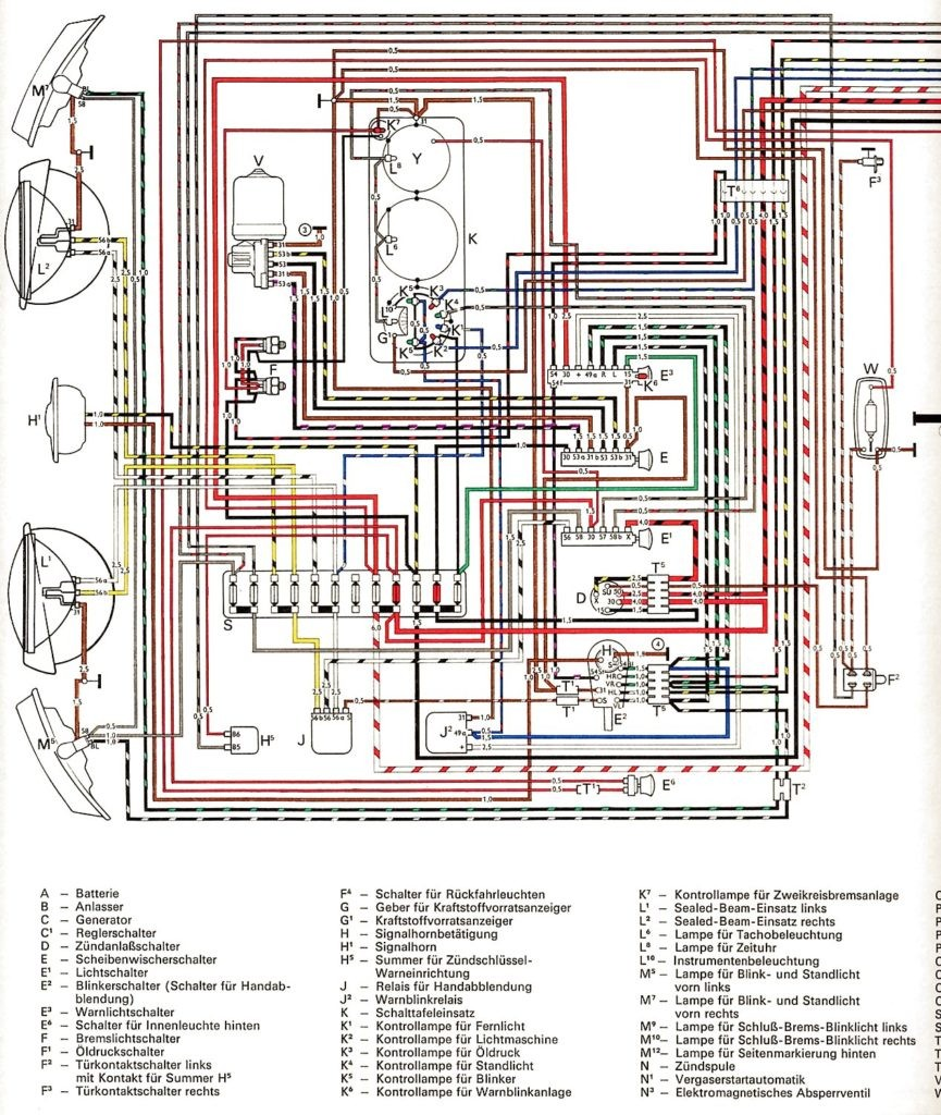 1970 Vw Beetle Wiring Diagram Schematic Wiring Diagram
