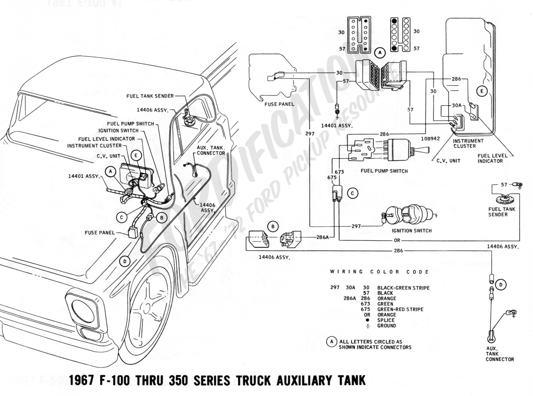 1967 Ford Starter Solenoid Wiring Diagram Library 1994 F 150 100 Thru 350 Auxiliary Fuel Tank Truck Technical Drawings And Schematics F150 Awesome