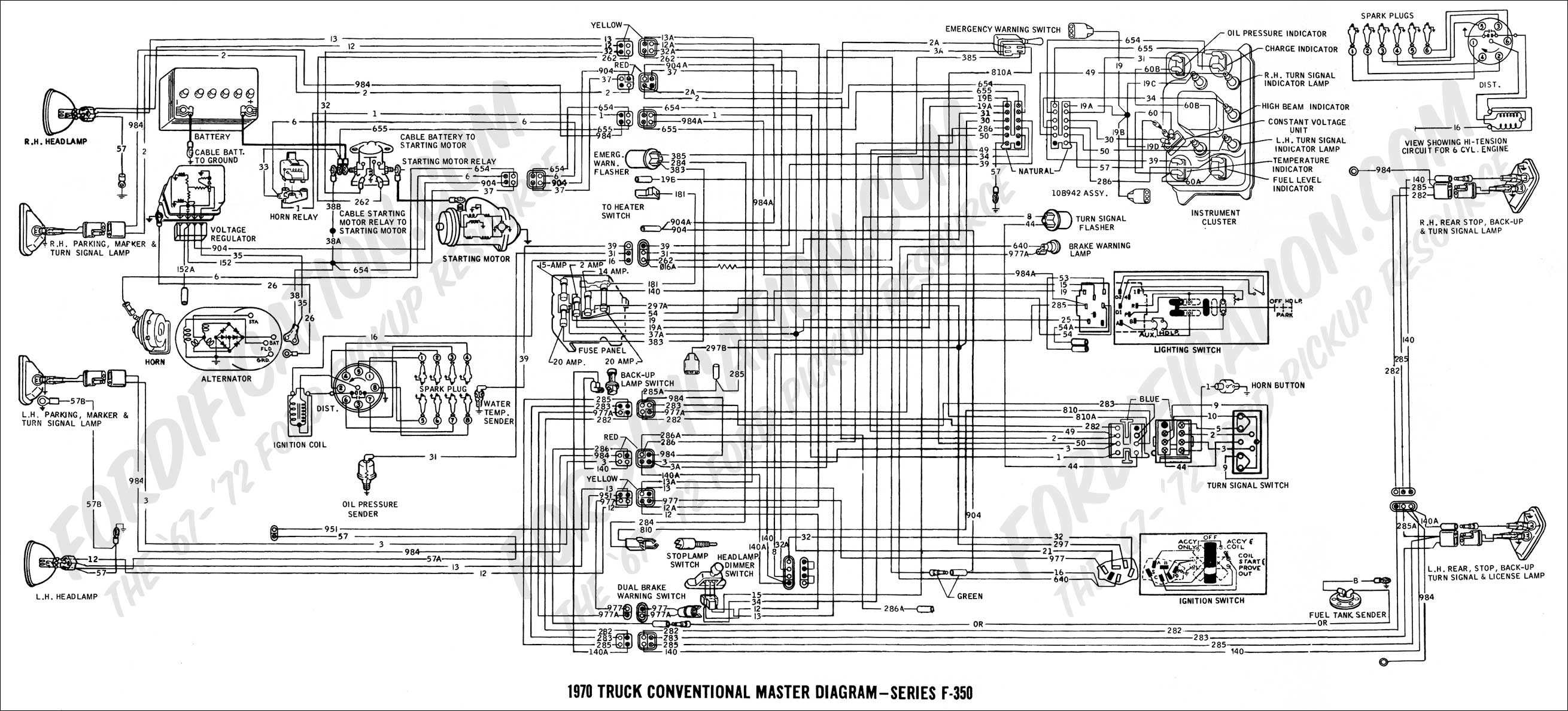 Ford Truck Technical Drawings And Schematics Section H Wiring 2004 F350 Headlight Wiring Diagram F350 Wiring Schematics
