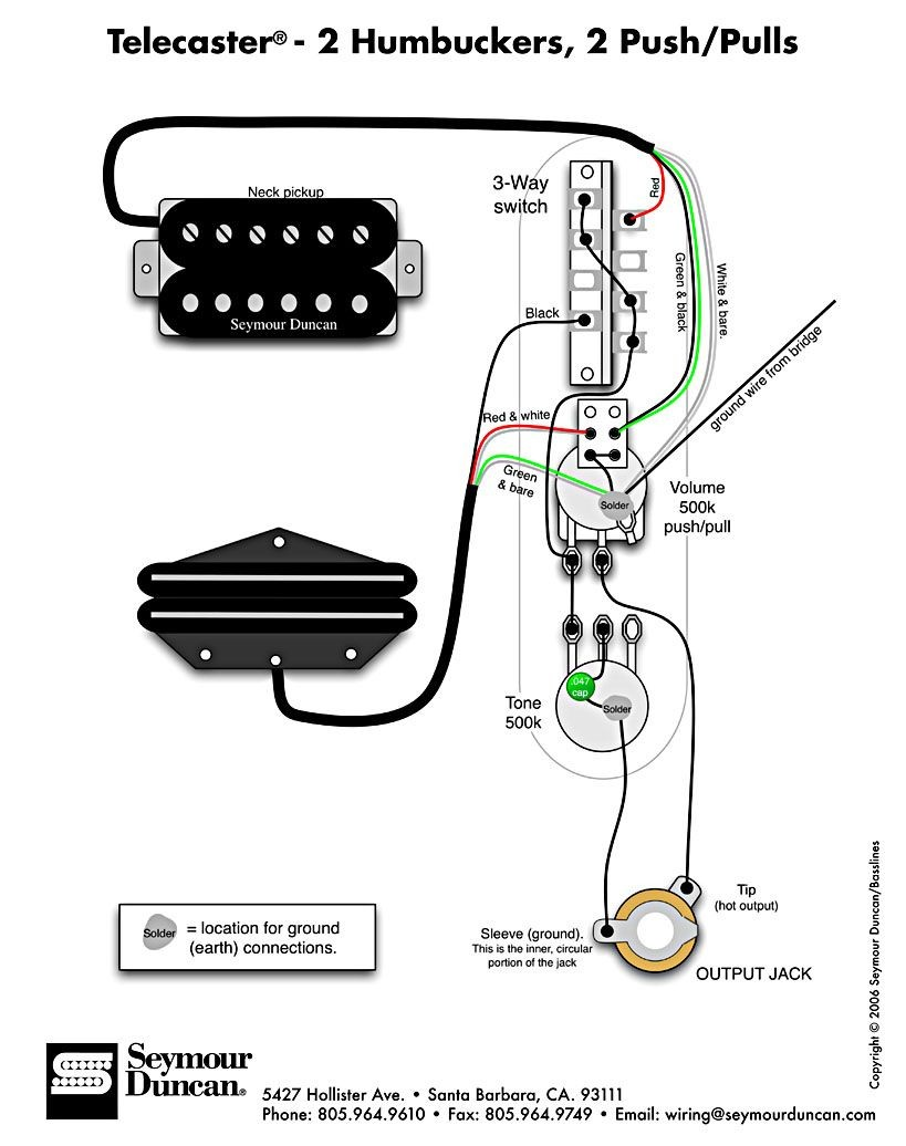 The world s largest selection of free guitar wiring diagrams Humbucker Strat Tele Bass and more