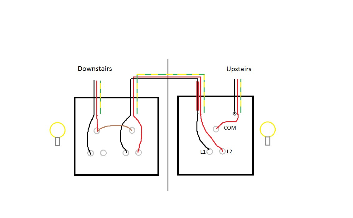 Wiring Diagram For 2 Gang Way Lighting Switch Fine Two Light