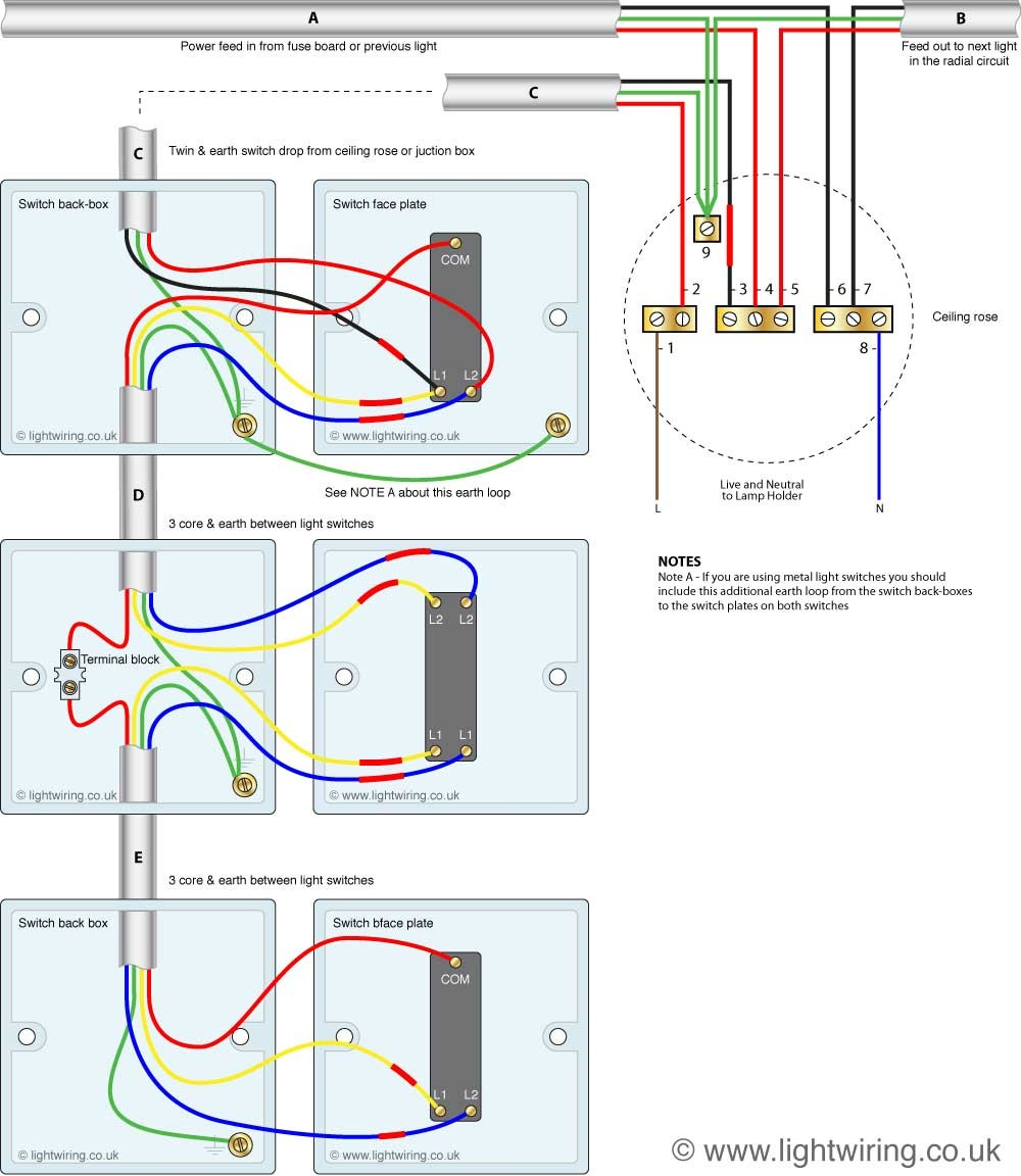 2 way electrical switch wiring diagram wiring diagram image diagram wiringy light switch multiple lights e dimmer and gang crabtree cheapraybanclubmaster Gallery