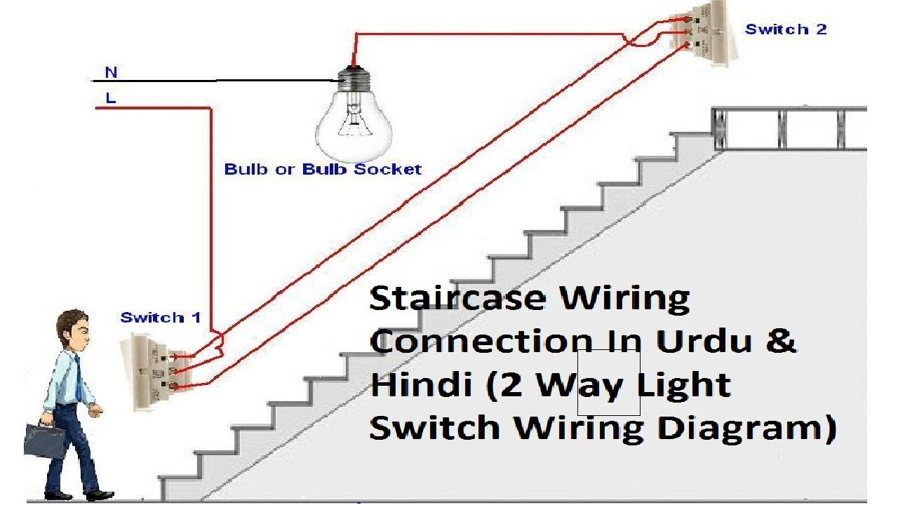 2 Way Light Switch Wiring Staircase Connections In Mesmerizing Diagram Two
