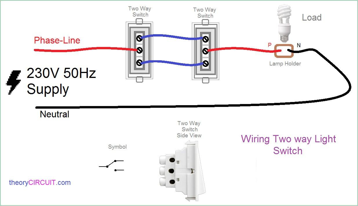 2 Way Light Switch Wiring Diagram Elegant | Wiring Diagram Image