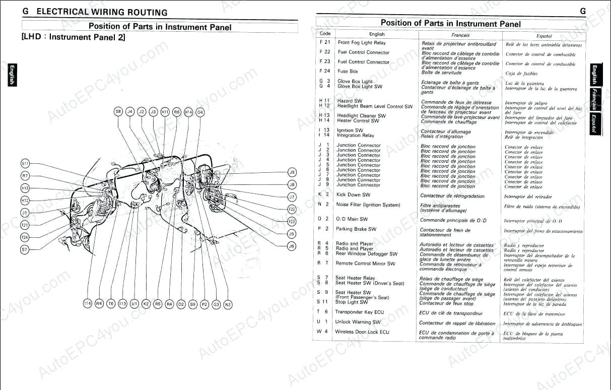 wiring diagram for a the 2009 toyota corolla engine