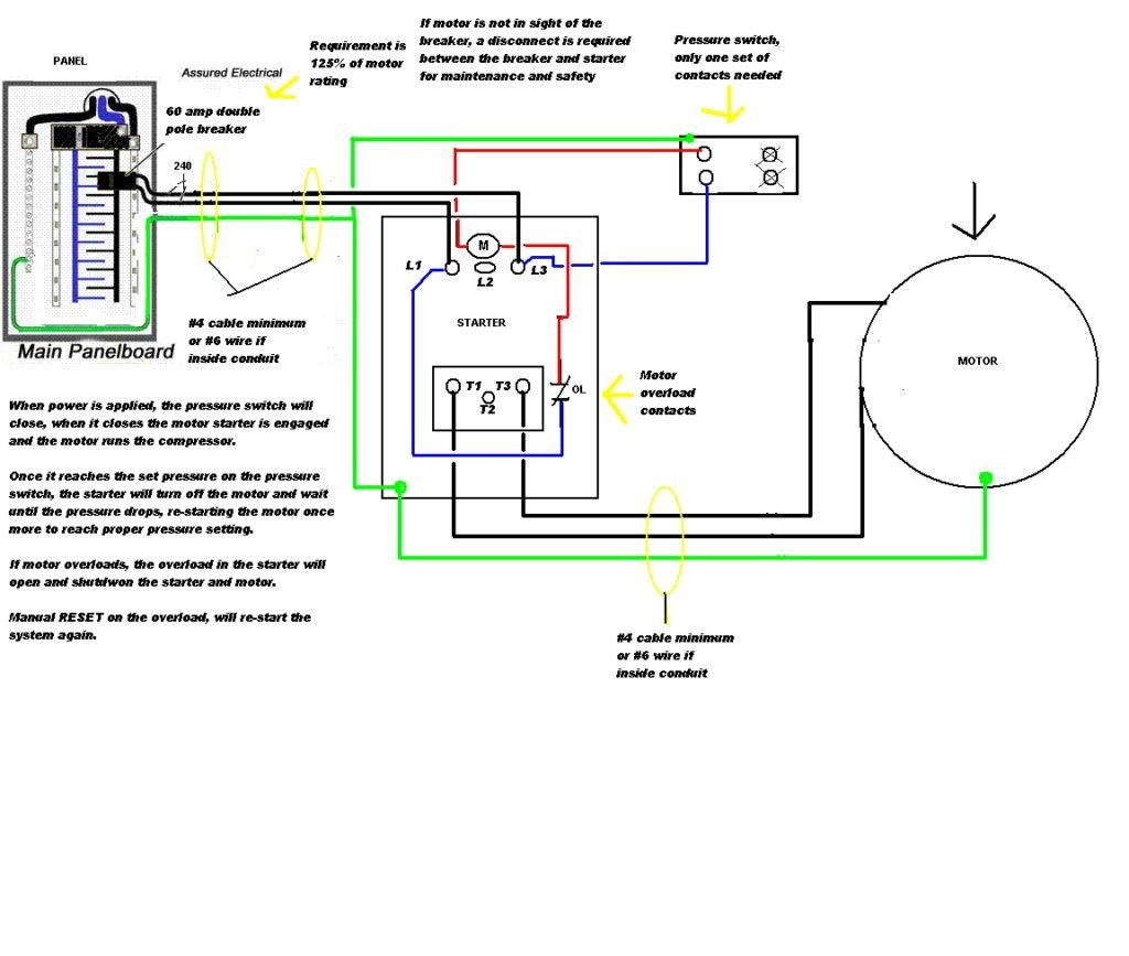 220v Hot Tub Wiring Diagram How To Wire 5hp Airr Single Phase Motor Reset  In 1024x867