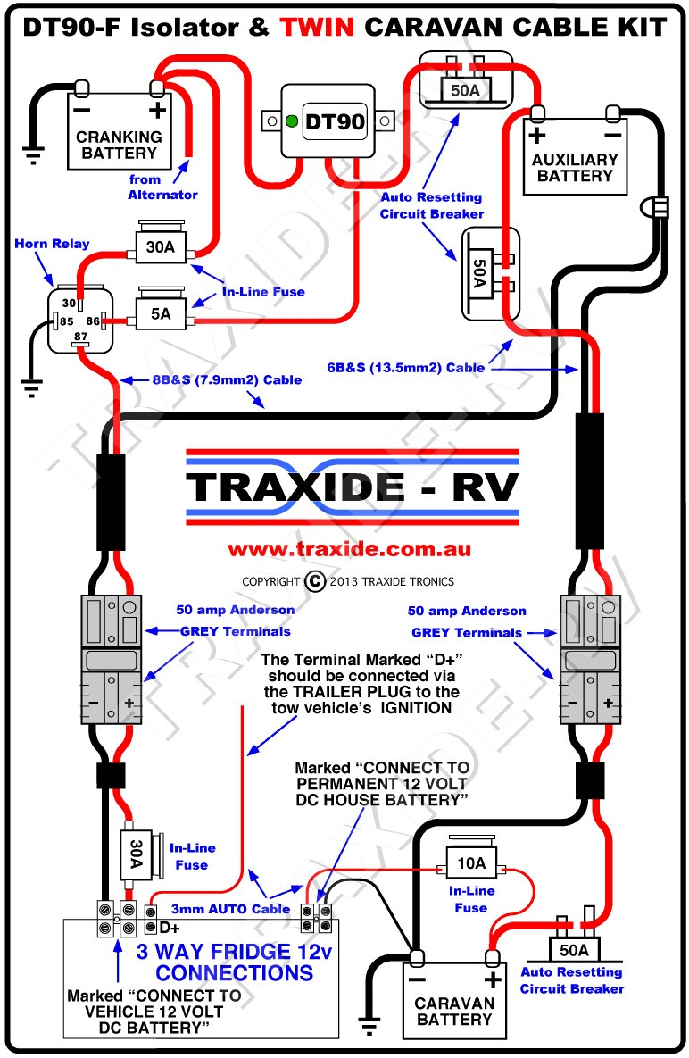 Caravan Battery Charging From Prado At 12v Wiring Diagram Ripping And 12V Transformer