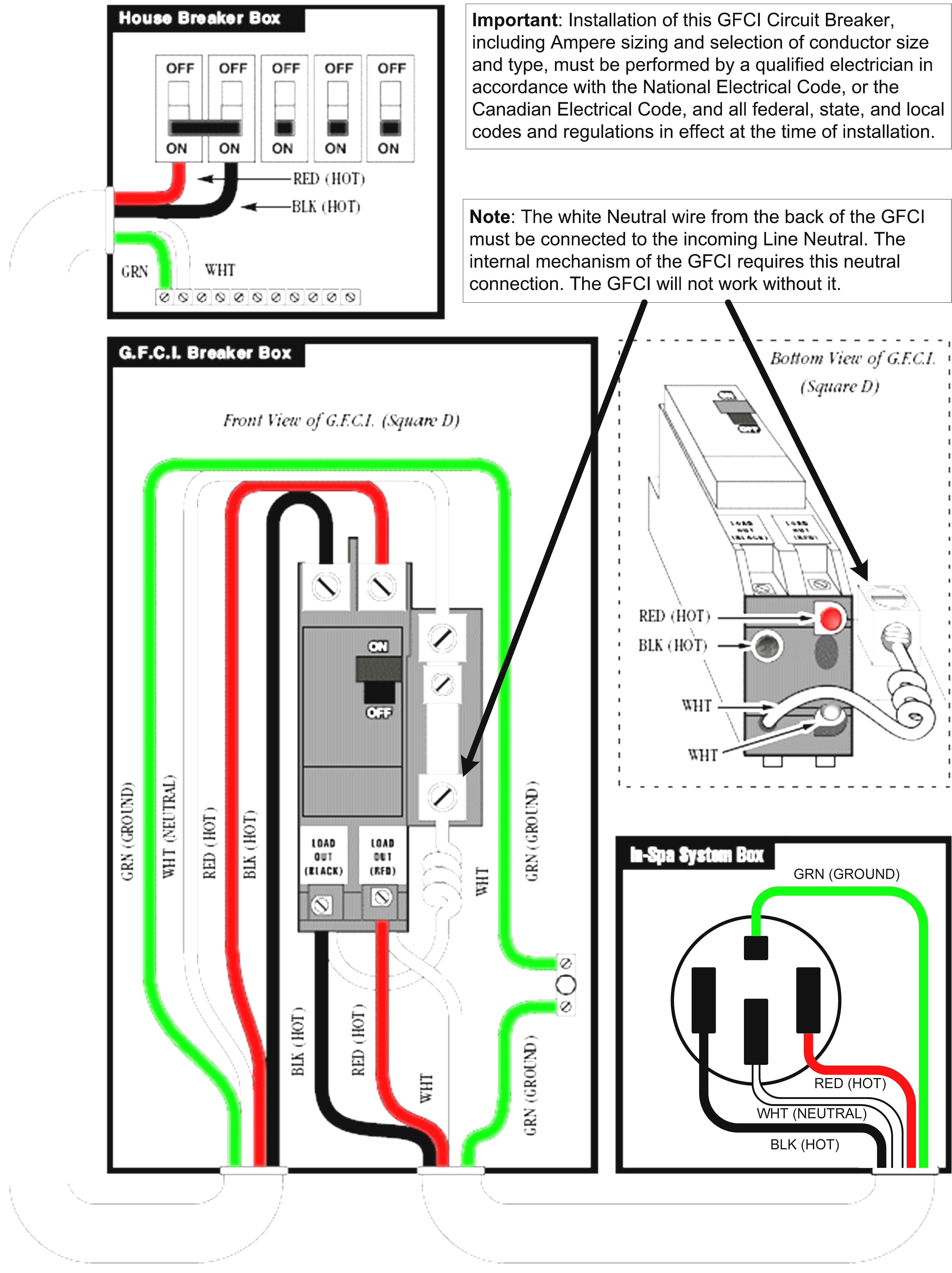 gfci breaker wiring diagram elegant gfi troubleshooting gallery free rh thespartanchronicle Electric Breaker Box Wiring Diagram GFCI Plug Wiring Diagram