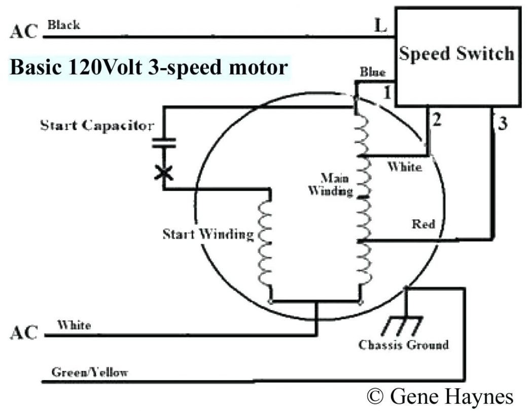 Ac Condenser Fan Motor Wiring Diagram from mainetreasurechest.com