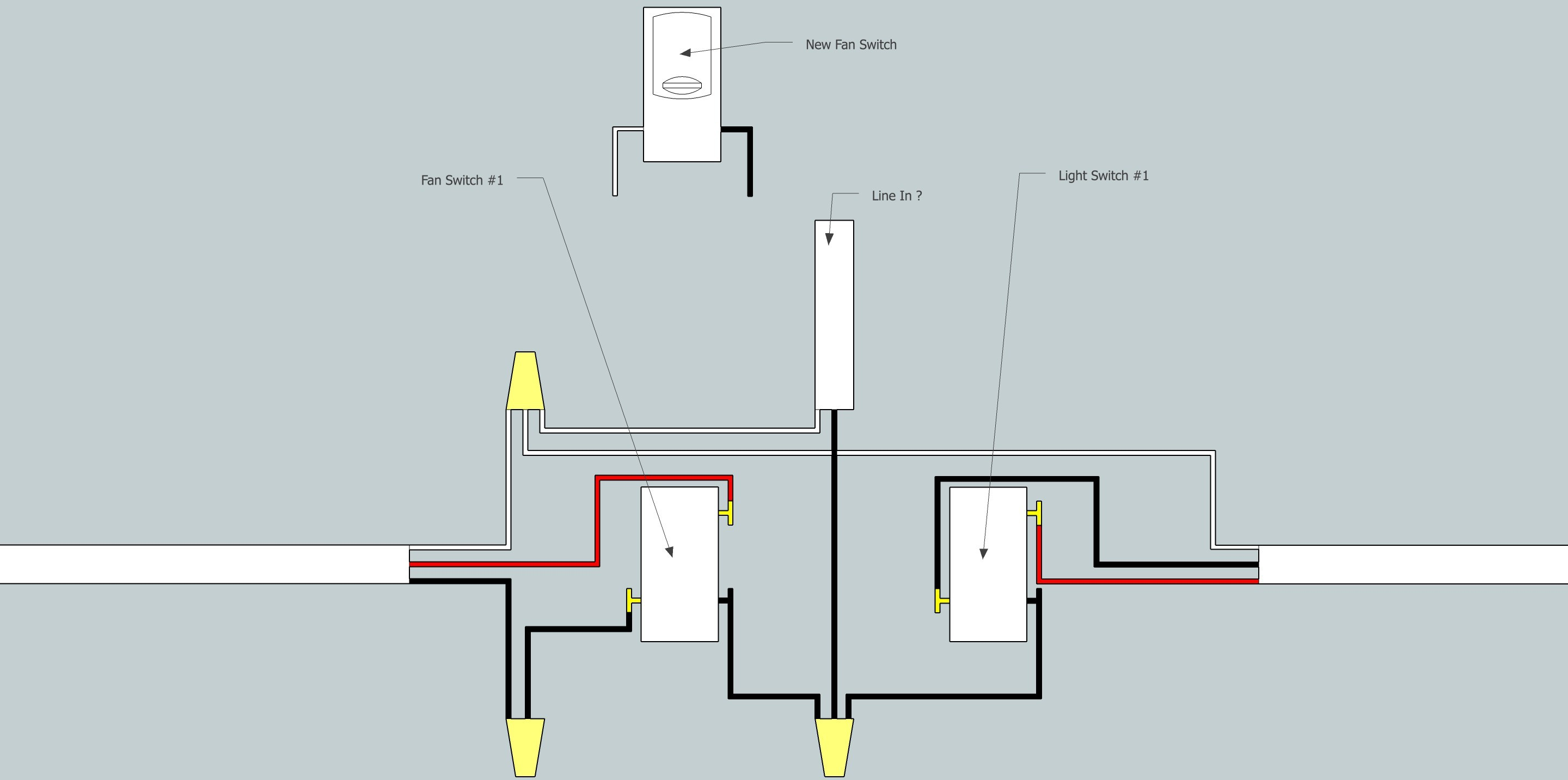 3 Way Wiring Diagram Awesome fortable 3 Way Switch Light In Middle Contemporary Electrical