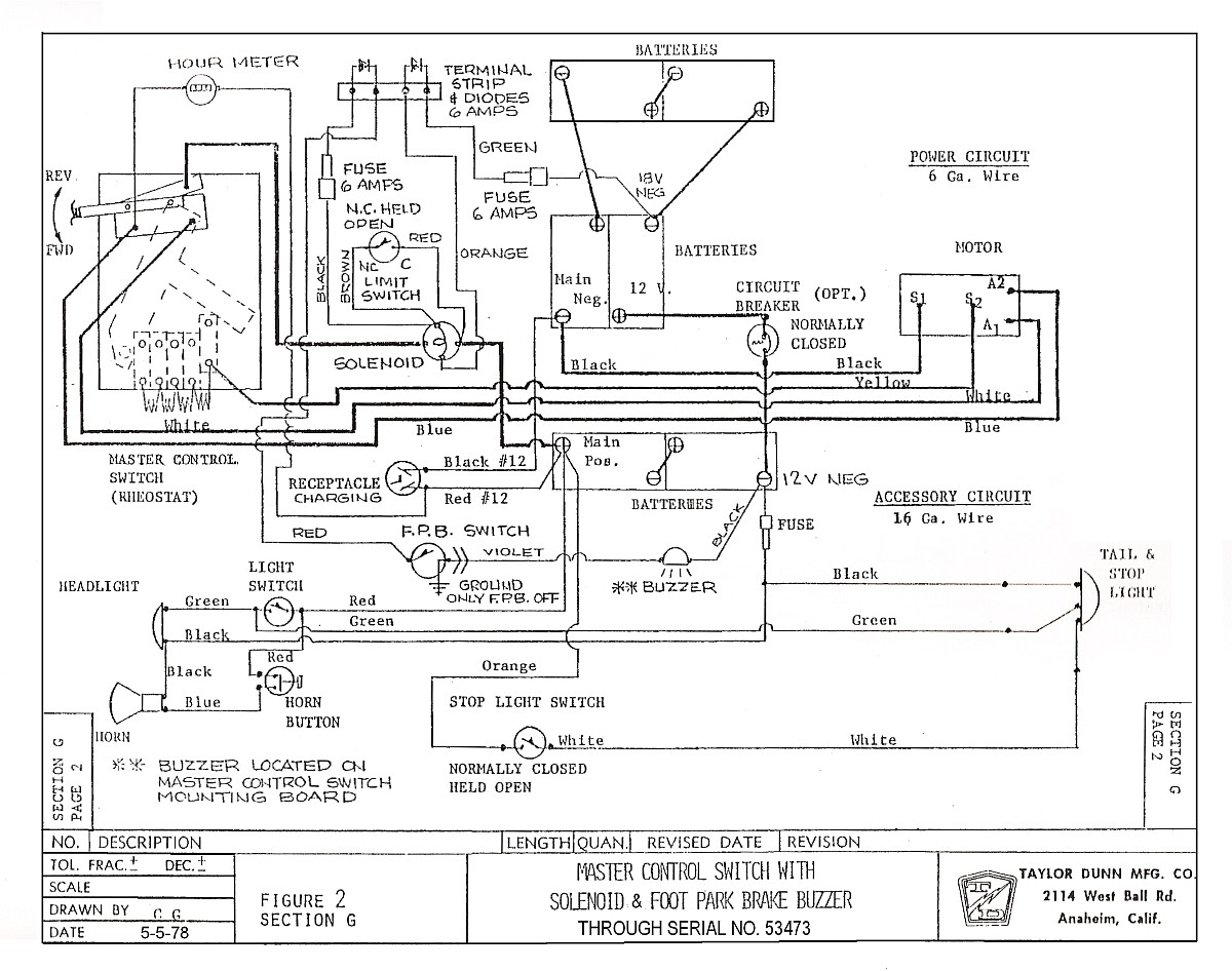 [DIAGRAM_5LK]  5755C54 Taylor Dunn Wiring Diagram Ignition | Wiring Library | Cushman Hawk Wiring Diagram |  | Wiring Library