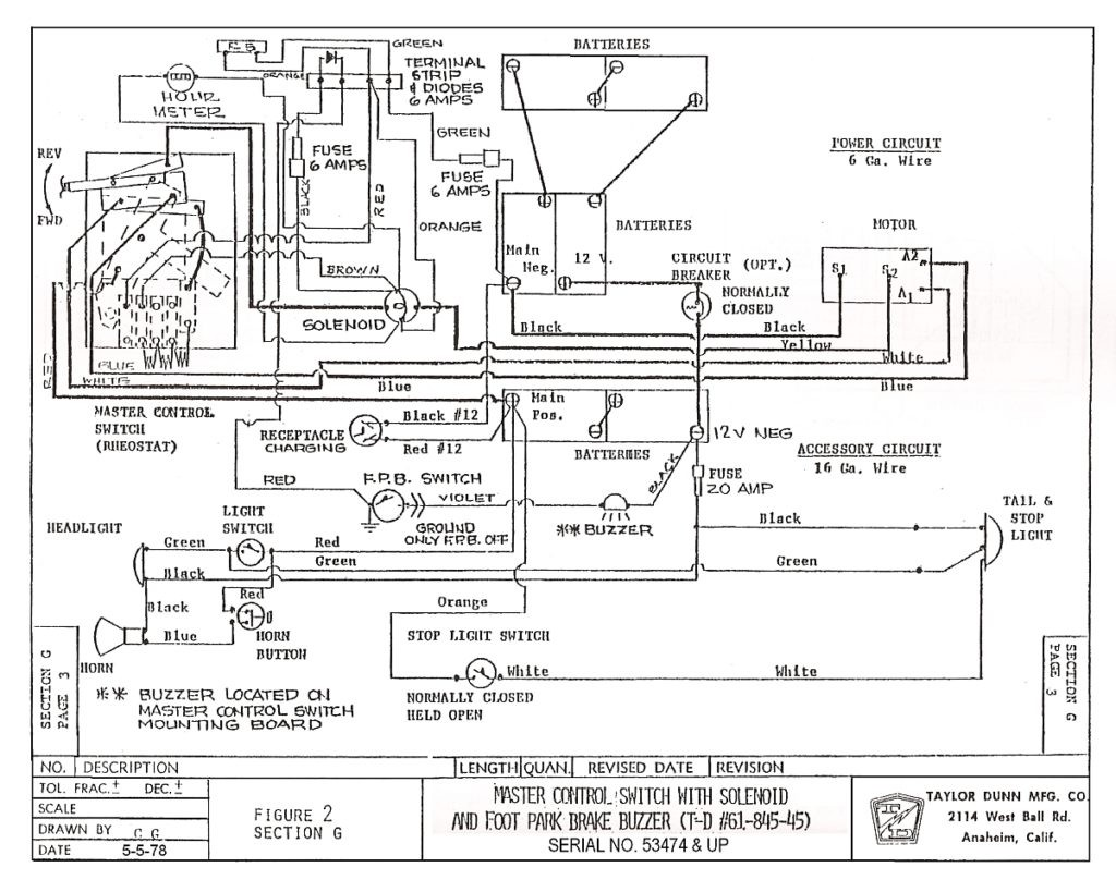 Yamaha G9 Wiring Diagram Elegant Ez Go Electric Golf Cart