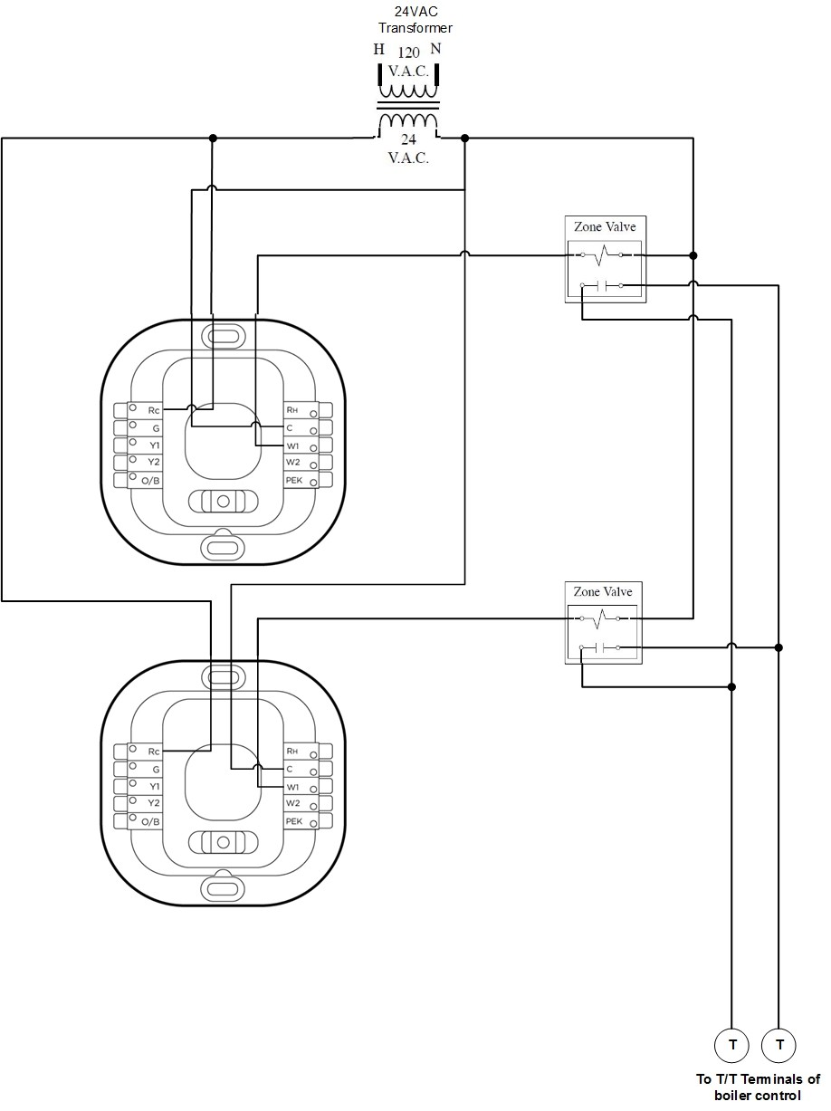 Ecobee3 Lite With 4 Wire Zone Valves For Ecobee Wiring Diagram