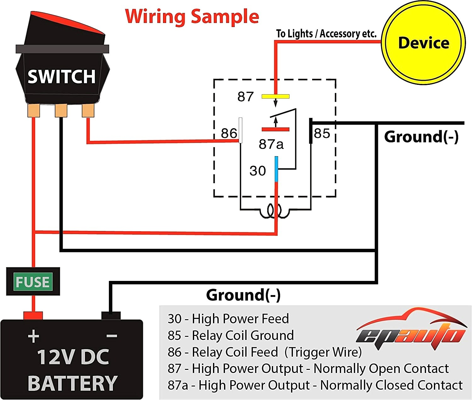 12v 30 Amp Relay Wiring Diagram 12v 30 Amp Relay Wiring Diagram How To Wire  A