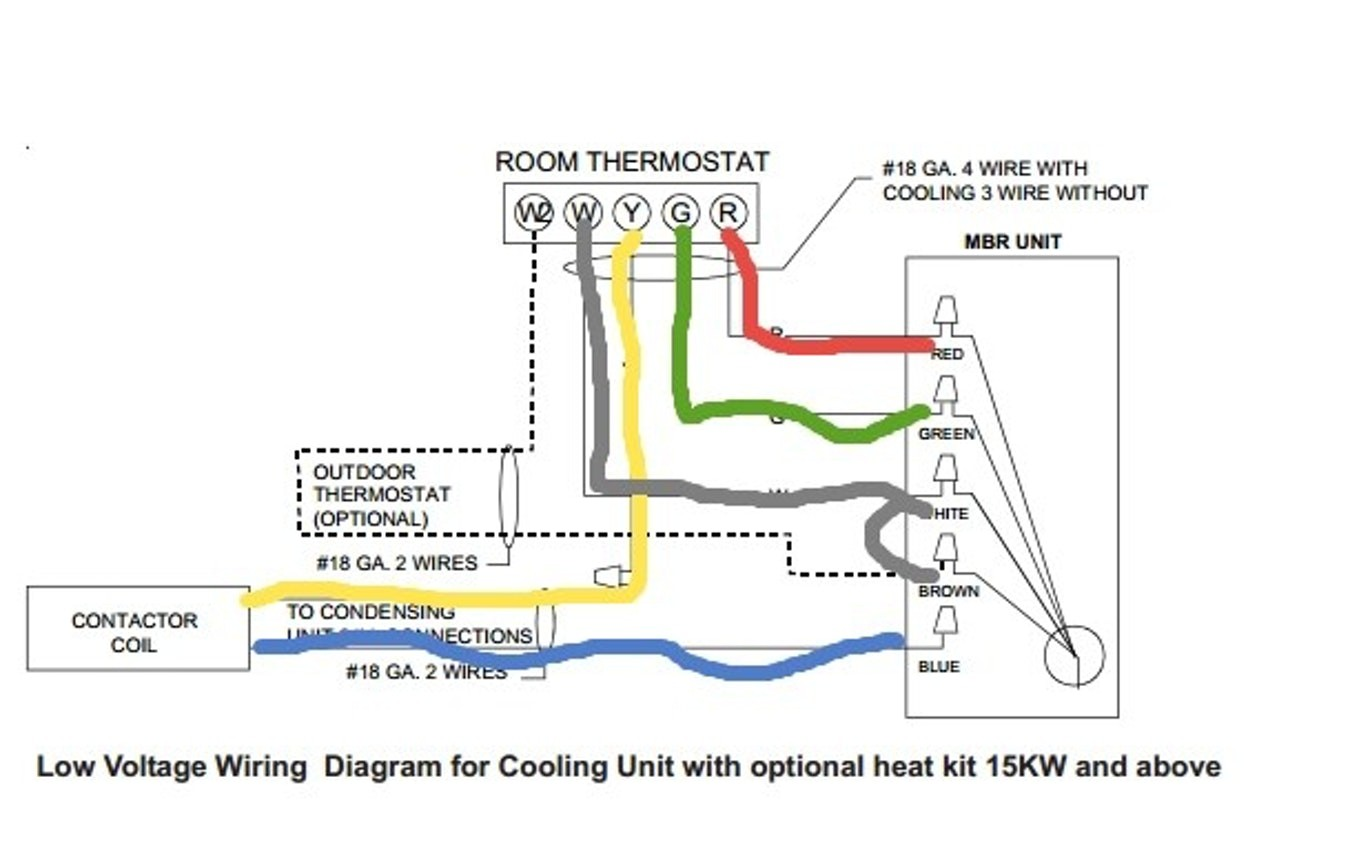 Wiring Diagram For Outdoor Thermostat 4 Wire Color Code 3 Room