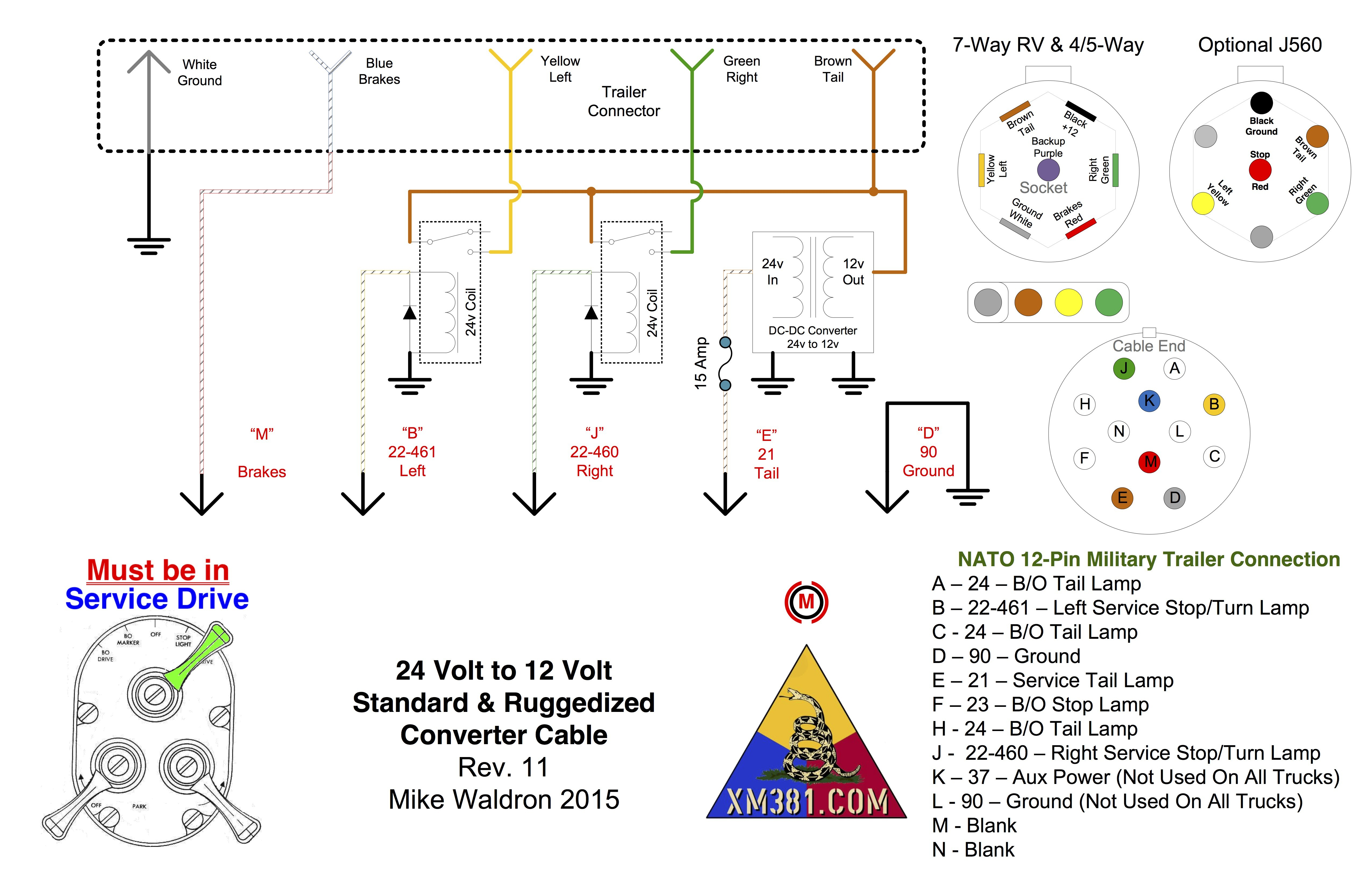 24v Trailer Wiring Diagram Library Yale Electric 7 Blade Lovely Charming 12 Pin Plug Electrical