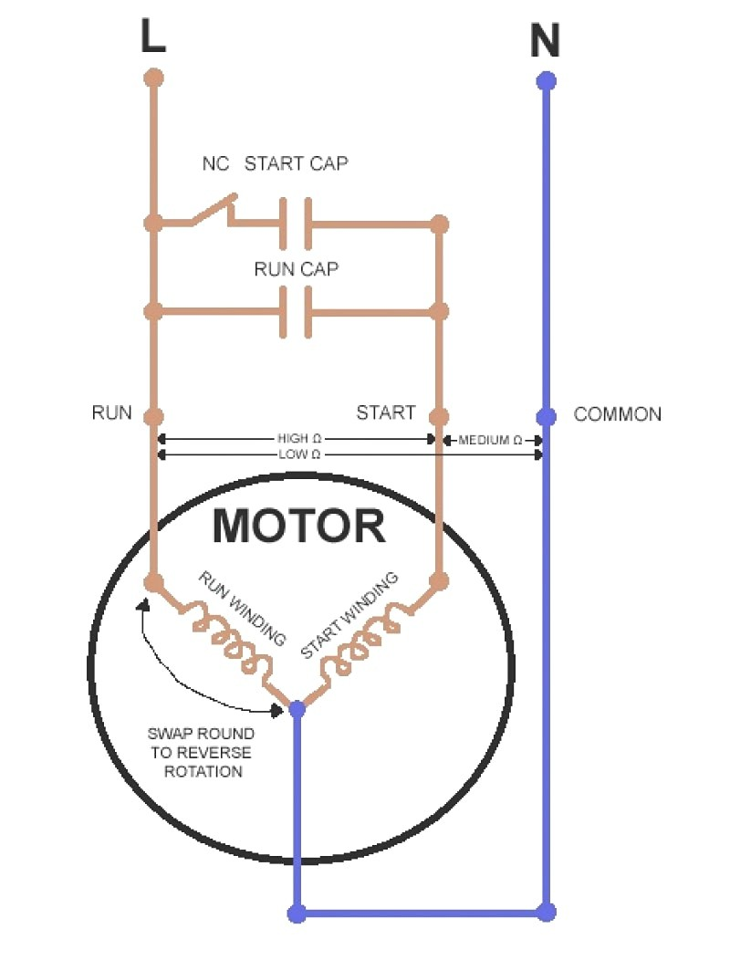 In Wire Motorg Diagram Electric Marvelous Capacitor s Schematic Symbol And For Ac Motor Wiring Single