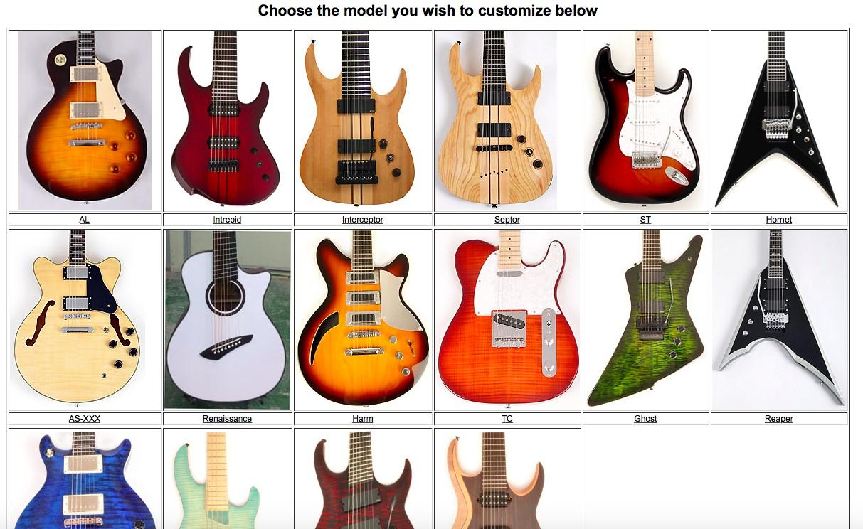 agile custom guitars