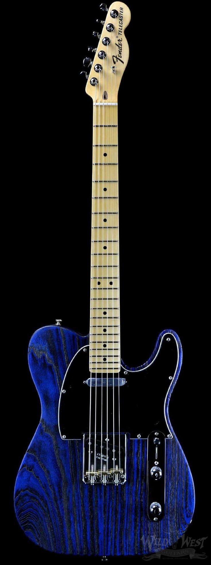 Fender USA Limited Edition Sandblasted Telecaster Sapphire Blue Transparent Wild West Guitars