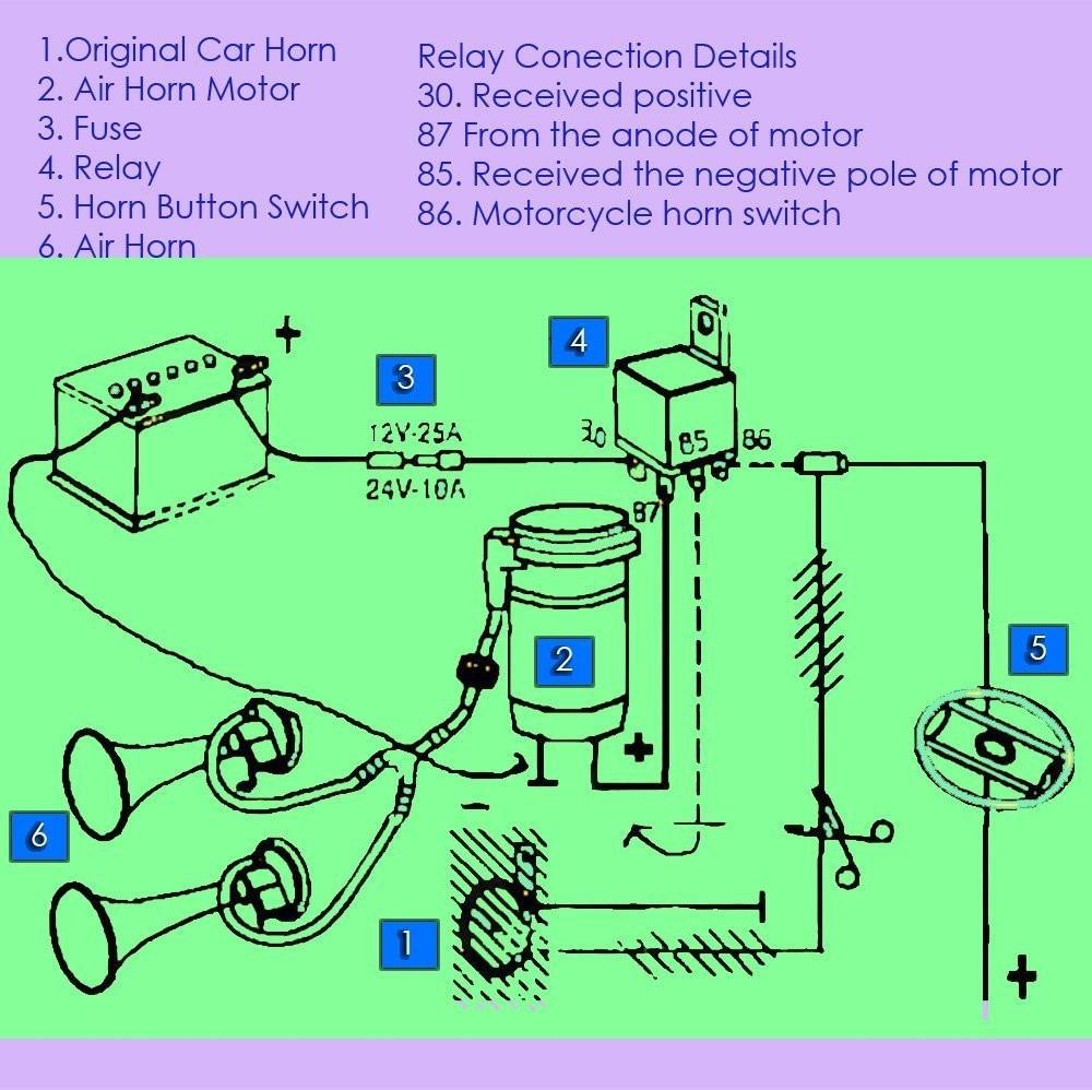 71tv8z 0l Sl1000 Car Air Horn Wiring Diagram Amazon Zento Deals 12v Super Loud Dual