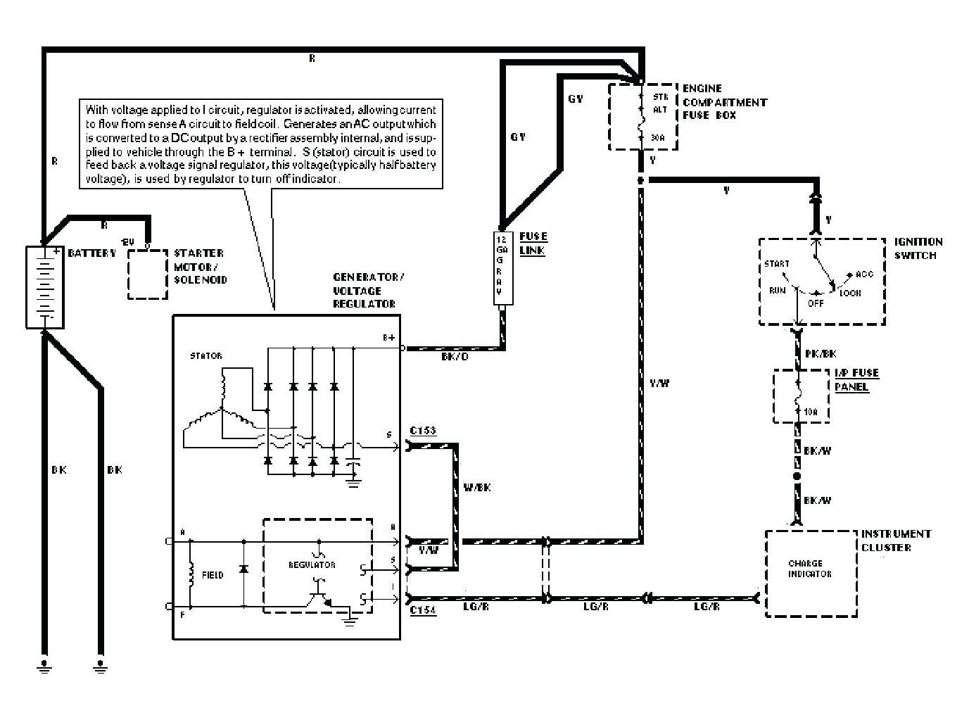 fender highway one wiring diagram internal regulator alternator
