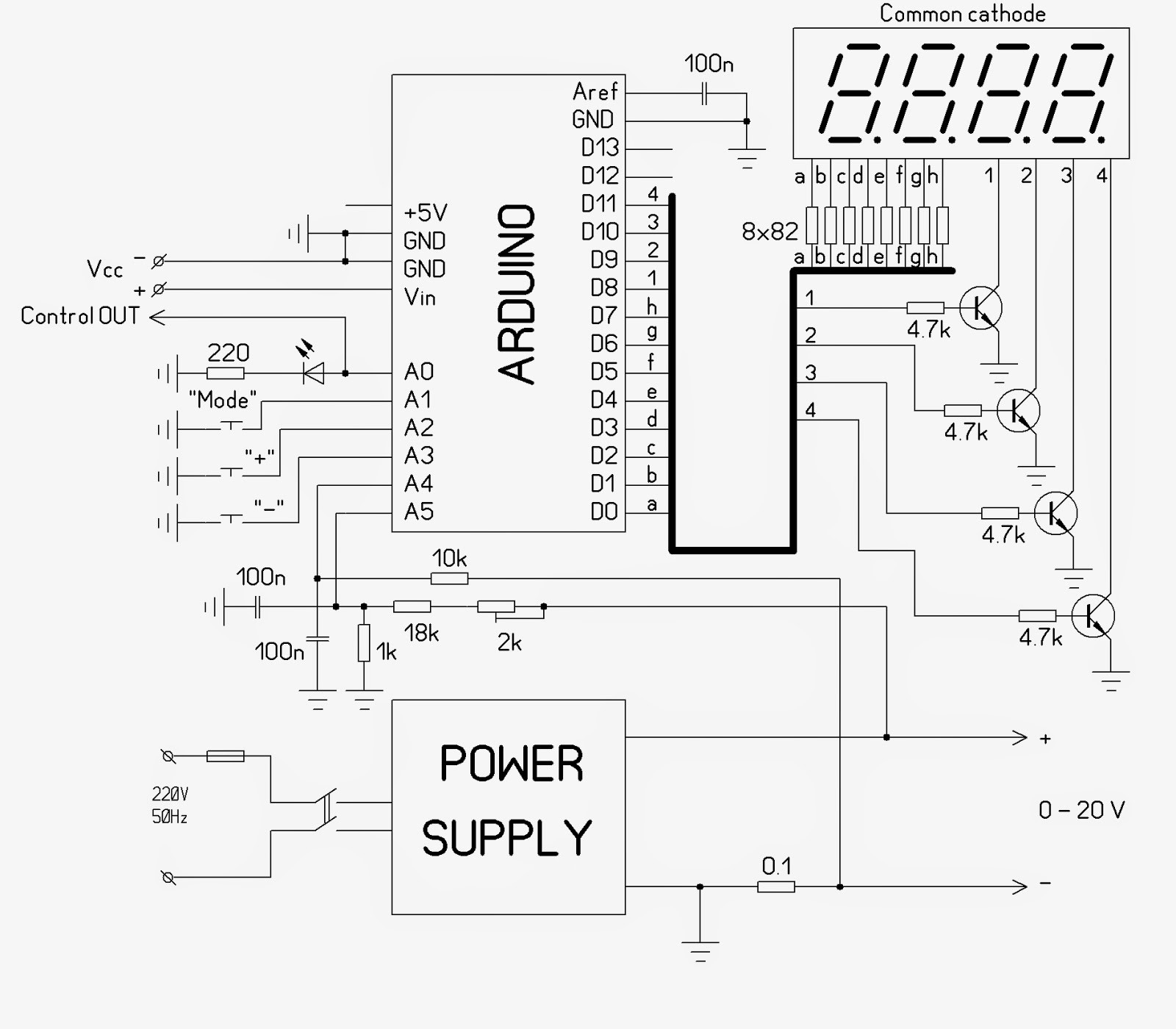 Microcontroller Home Projects Arduino Voltampere Meter Voltampermeter half wave rectifier circuits led lamp dimmer