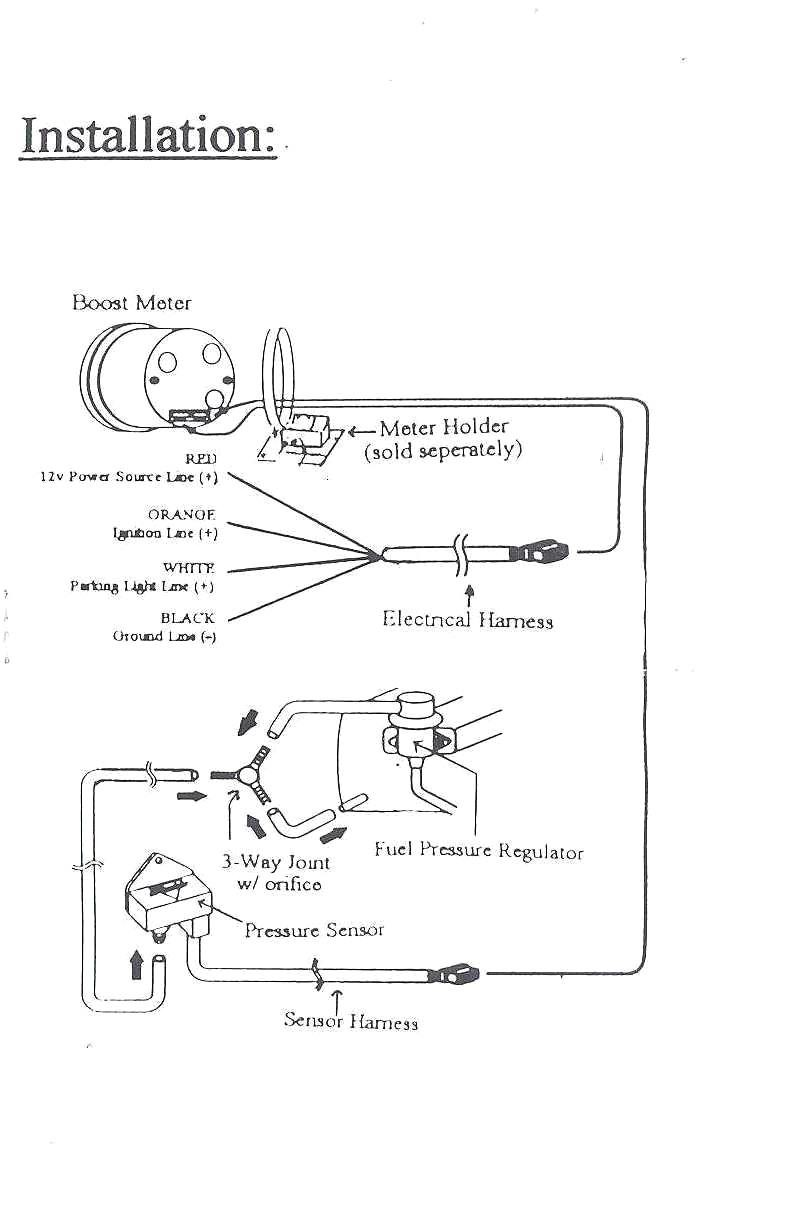 Air Fuel Ratio Gauge Wiring Diagram Autometer Sport p And Auto Meter Page1 Showy Physical