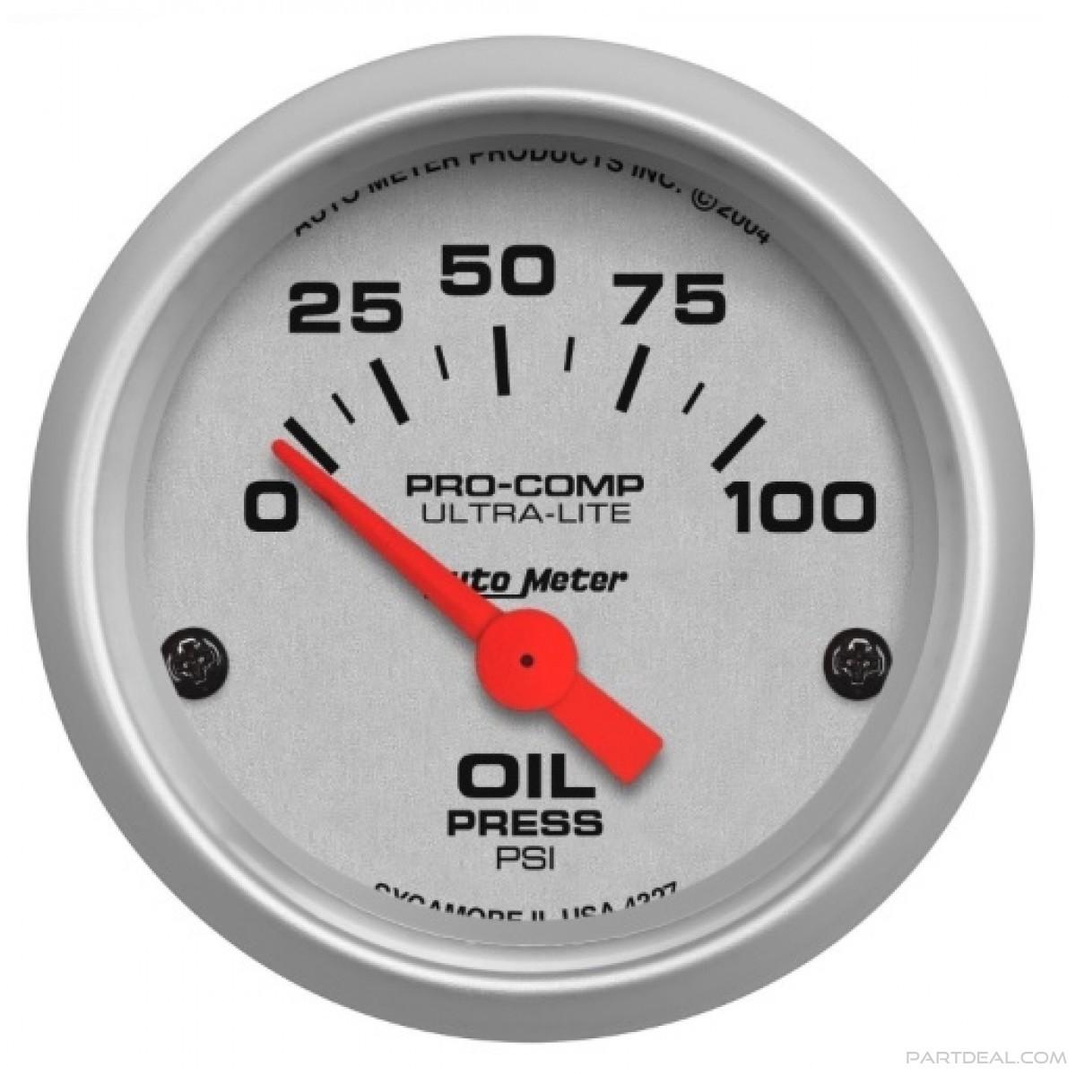 Autometer Oil Pressure Gauge 4327