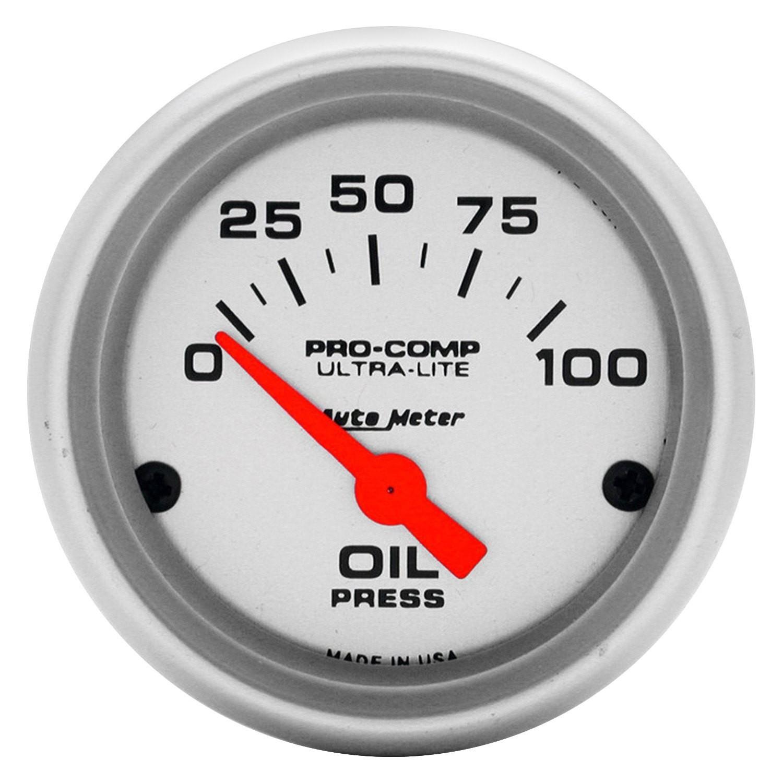 Auto Meter Ultra Lite™ Oil Pressure In Dash Gauge