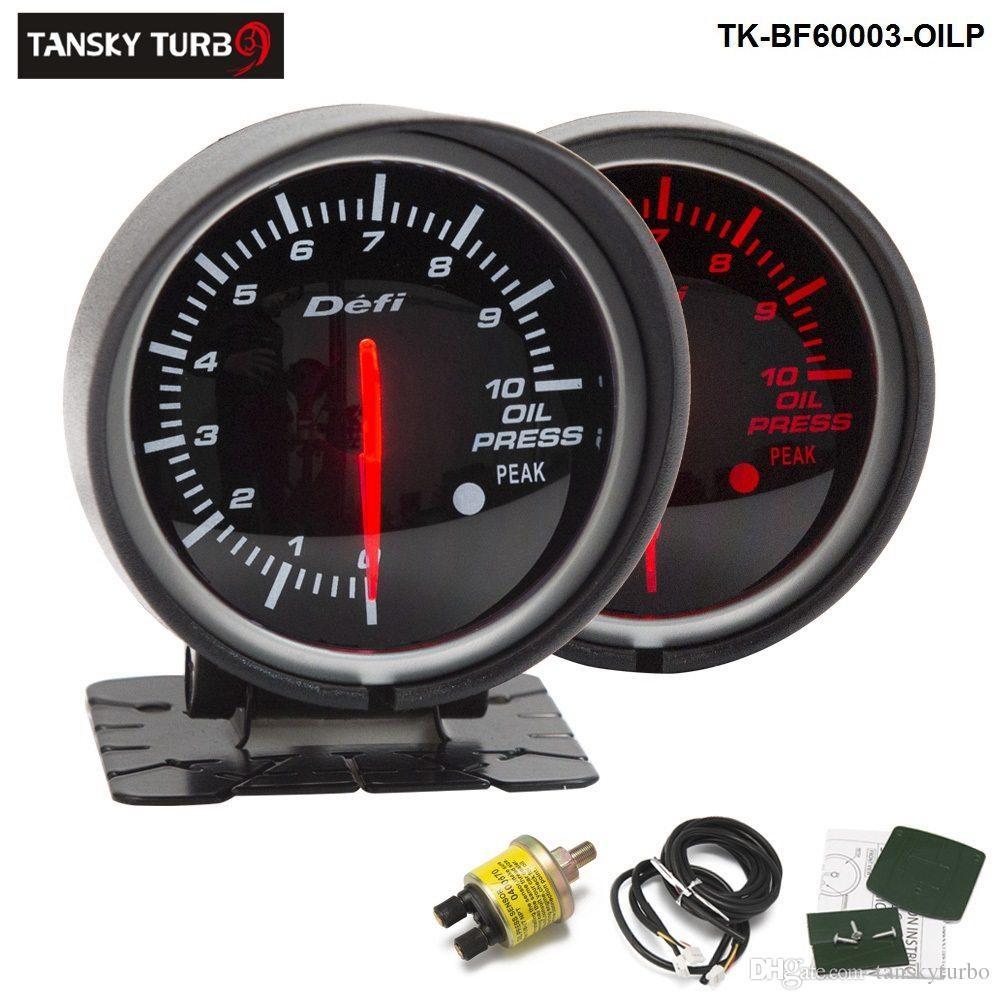 Tansky Defi Guage 60mm OIL PRESSURE GAUGE Oil Pressure Meter Car Meter Auto Gauge Black Bracket TK BF OILP Oil Pressure Auto Meter Racing Meter line