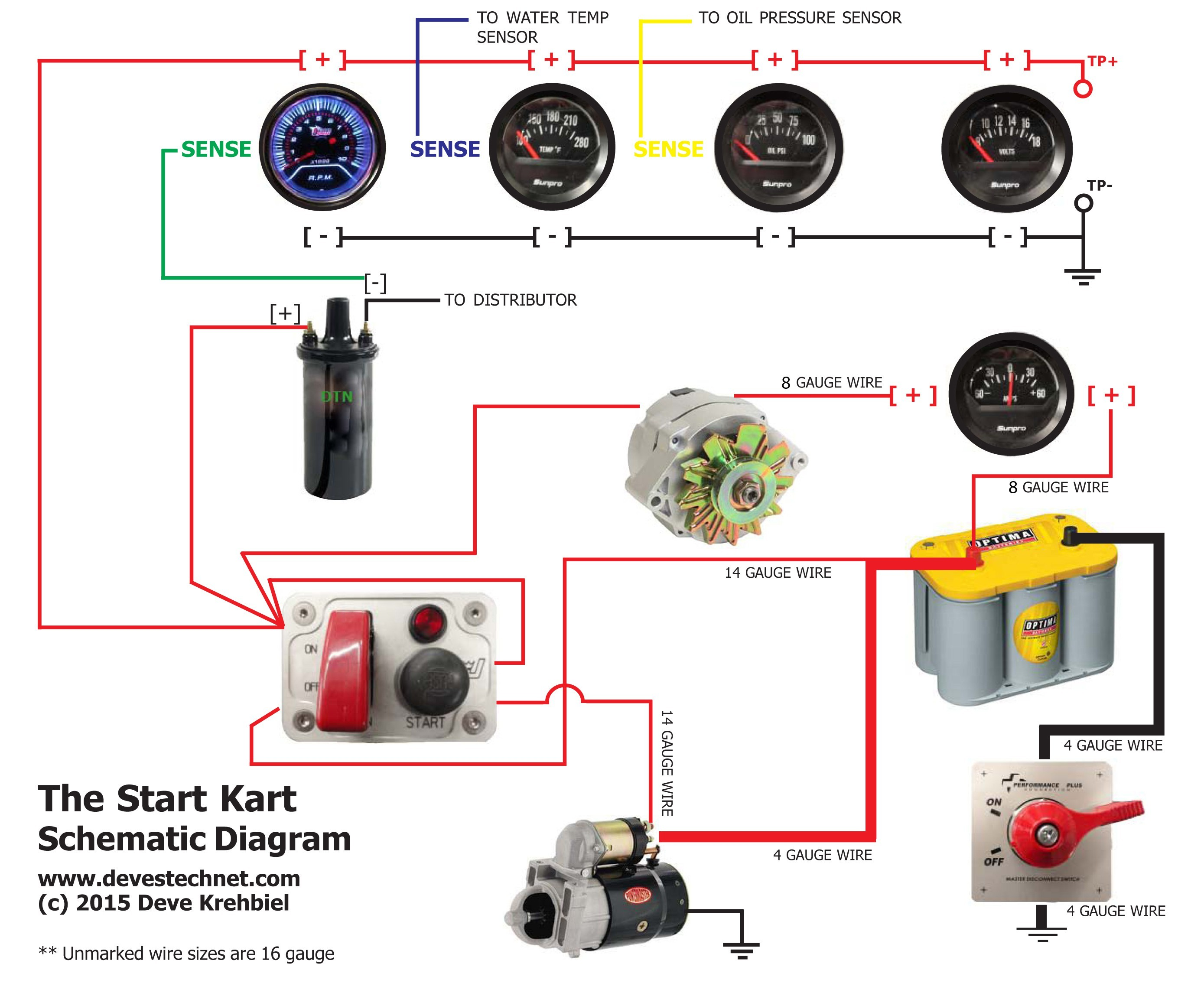Start Kart Plans Use A Good Ohm Meter For Checking Your Routes Prior To Adding Power Ampere Meter Connection wiring diagram ponents from autometer