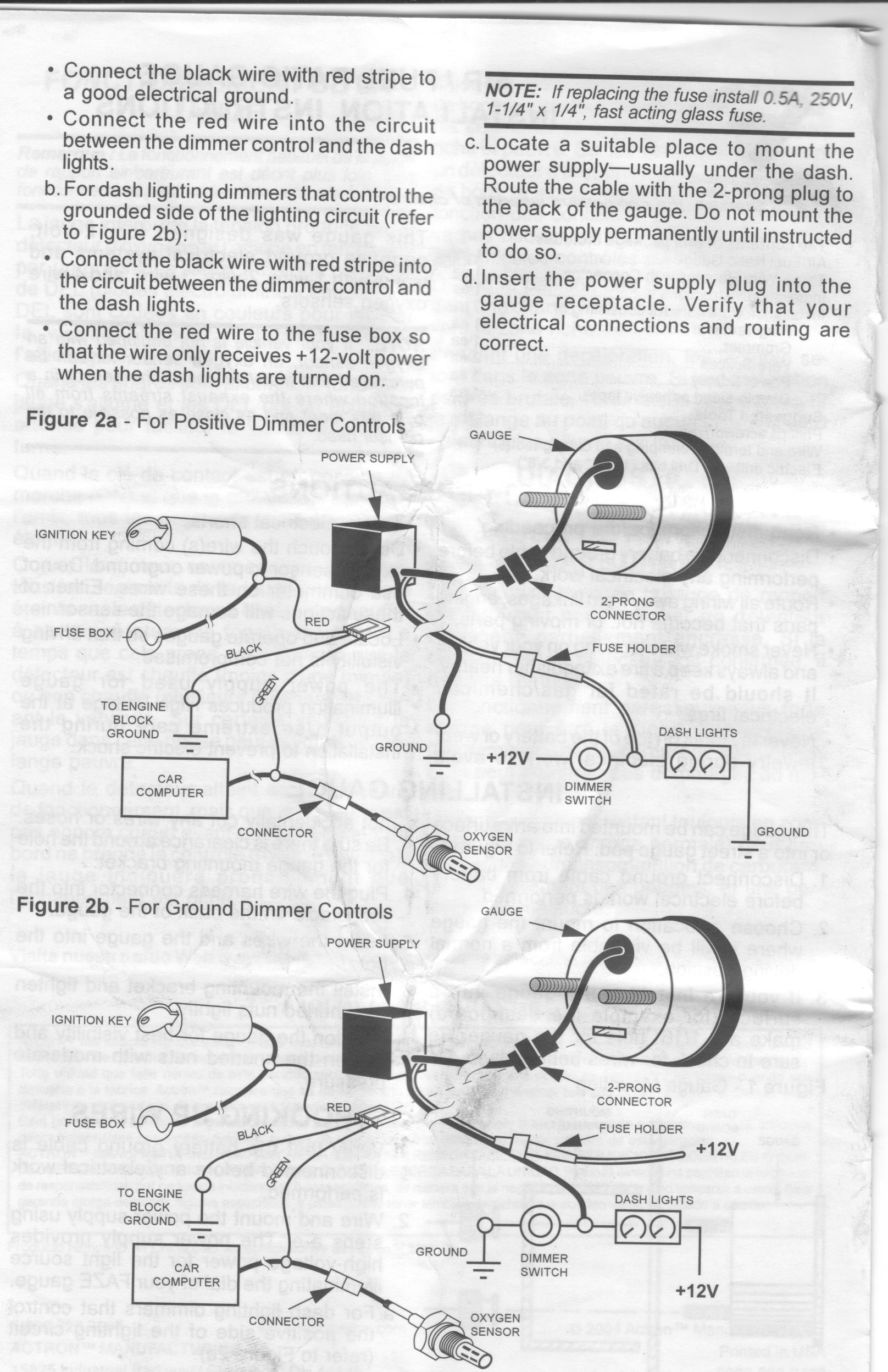 Tach Wiring Diagram For Auto Meter 4497 Library Taco Diagrams Autometer Air Fuel Gauge Schematics Voltmeter Gauges