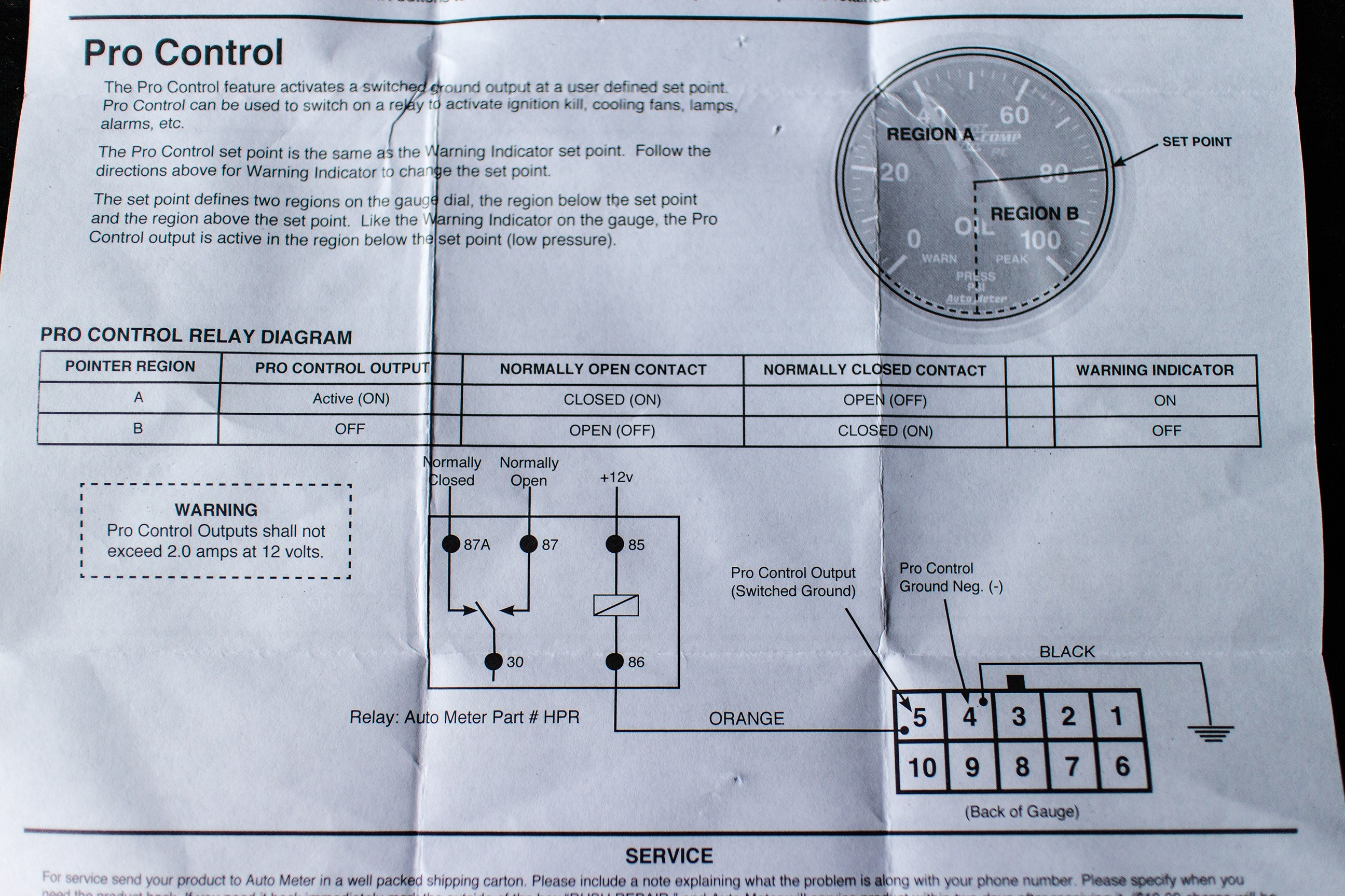 Autometer Volt Gauge Wiring Diagram Wiring Diagram Image