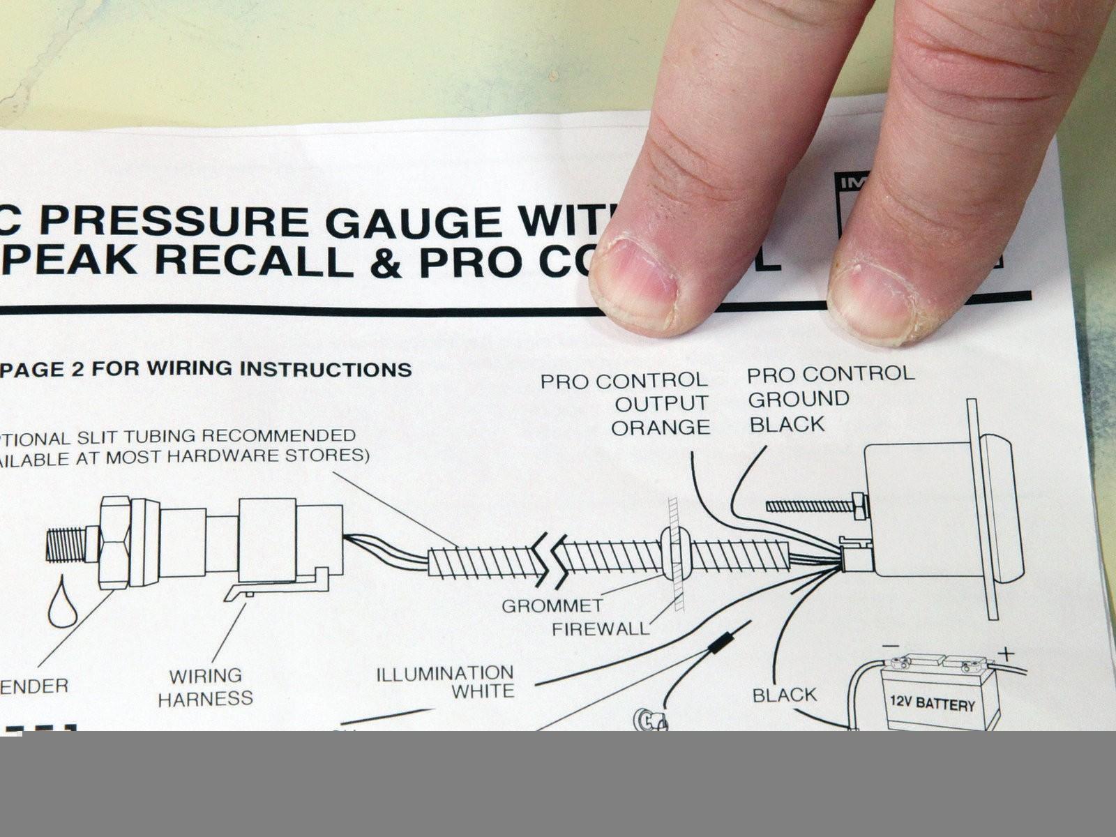Unusual Auto Meter Volt Gauge Wiring Diagram Inspiration