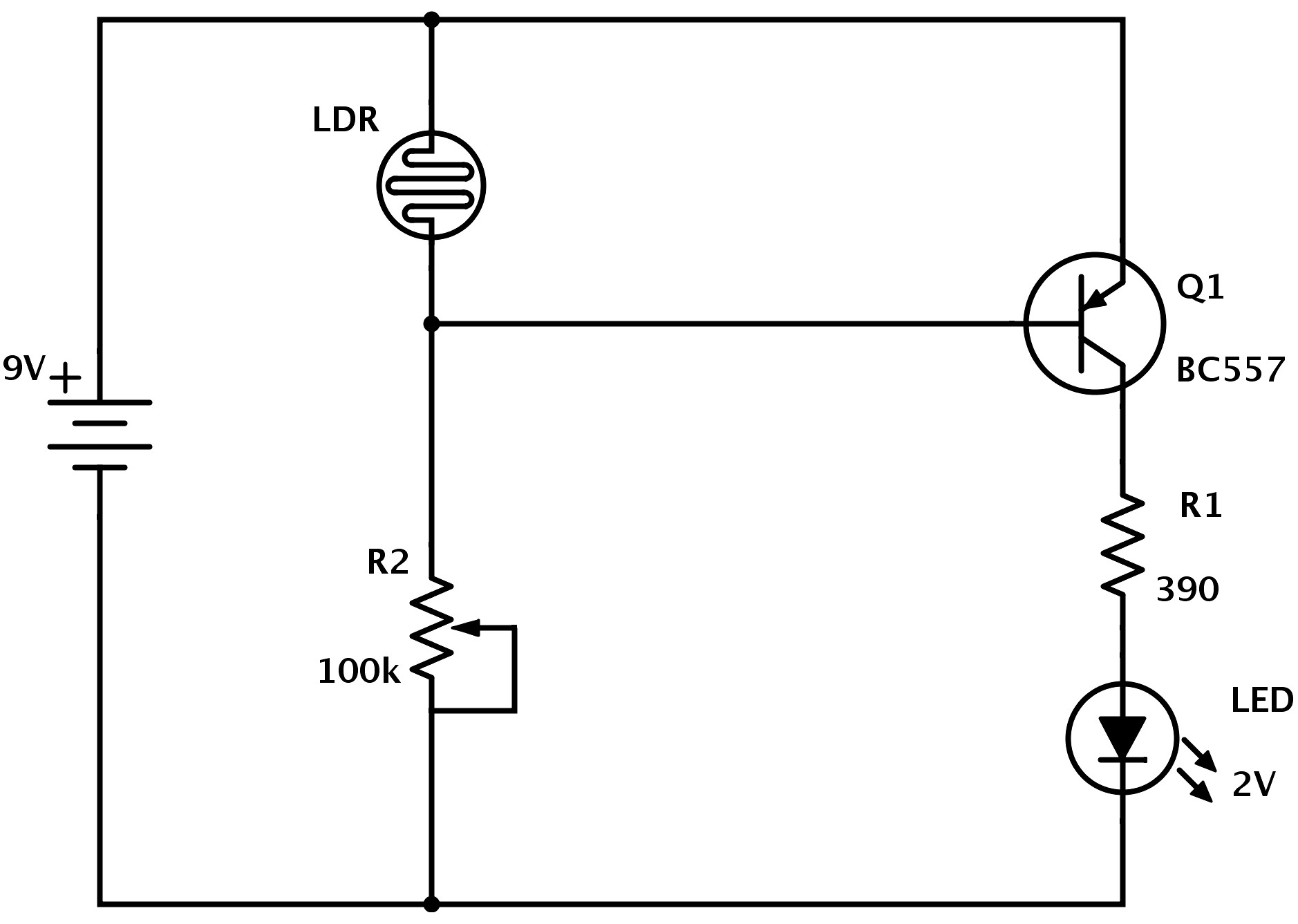 ponent Series Circuit Diagrams For The Od Ldr Diagram Build Electronic Circuits 4th Grade Dark Det