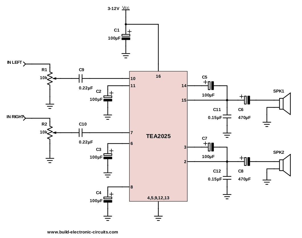 A Stereo Amplifier Circuit Diagram