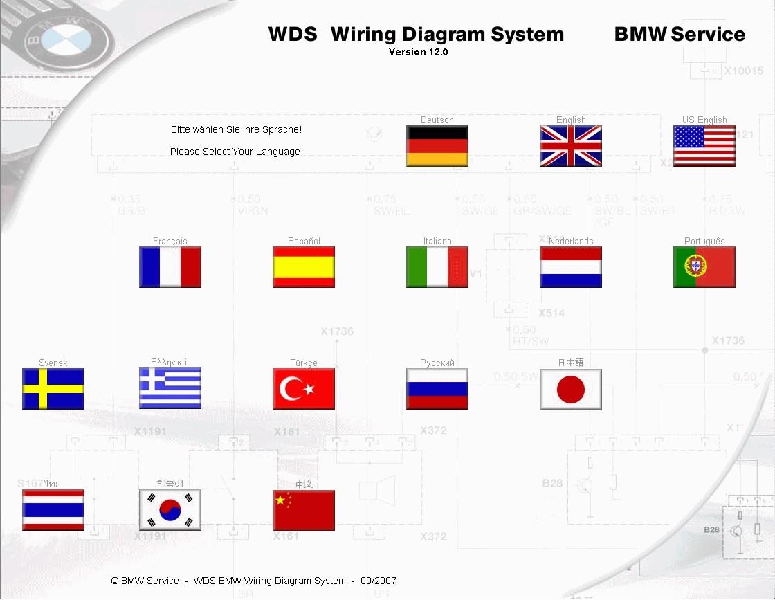 Auto Epc Org BMW WDS Wiring Diagrams V12 09 2007 Entrancing Wds Diagram