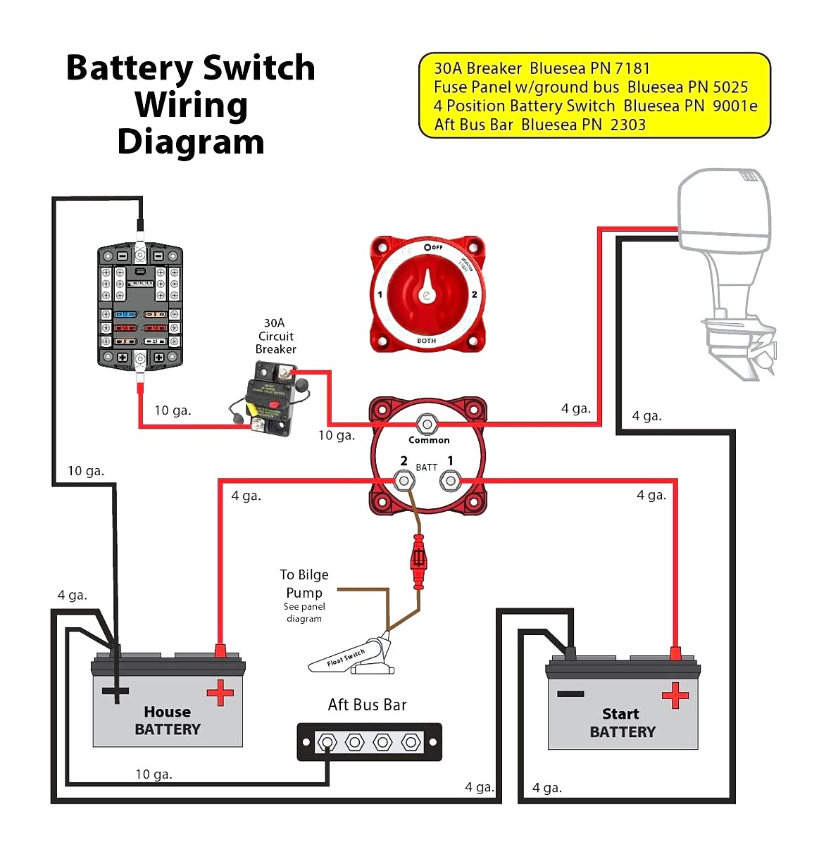 Boat Battery Switch Wiring Diagram For Diagrams