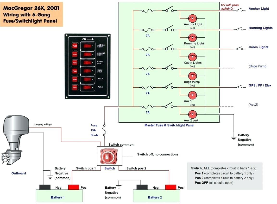 marine battery wiring schematic sylvan pontoon boat diagram