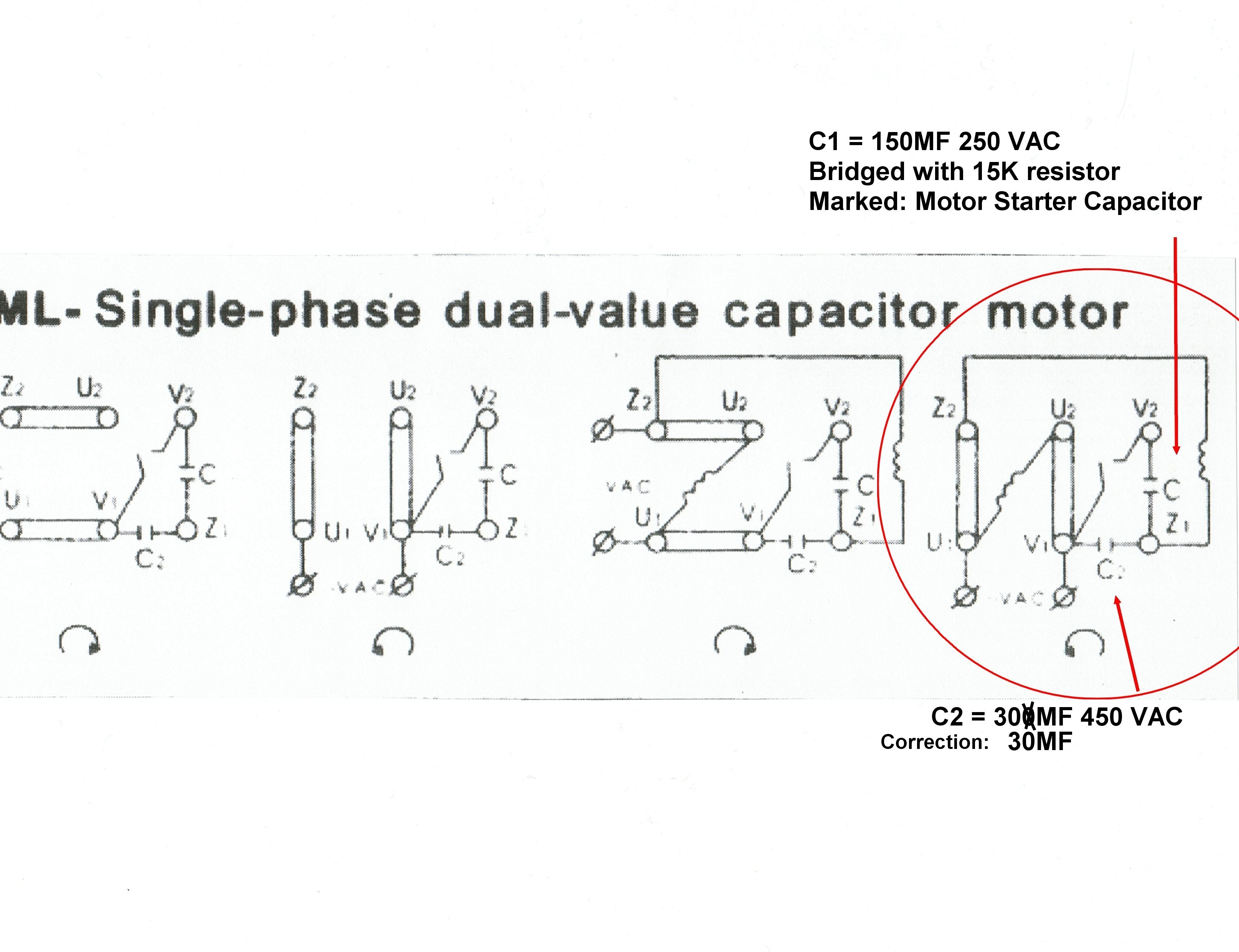 Wiring Diagram For Capacitor Start Motor Copy Single Phase And Run