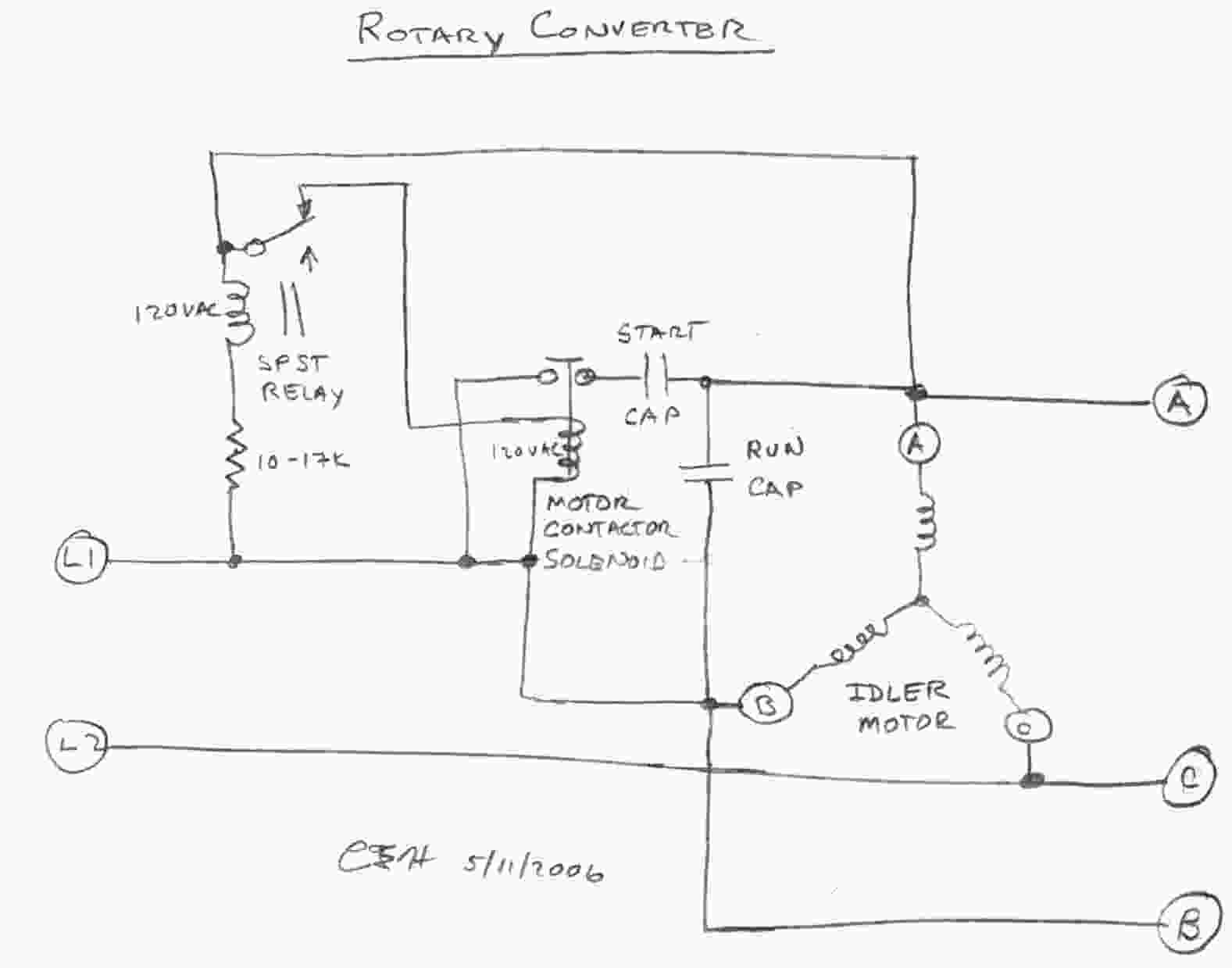 Capacitor Start Run Motor Wiring Diagram Fan Connection As It Is A Full Size Of Single Phase With Converters Rotary Converter Schematic Archived