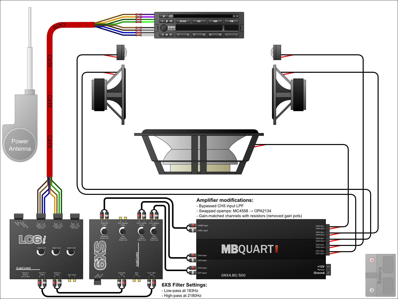 Car Audio Amp Wiring Diagrams Mechanic S Corner Pinterest With How To Wire Speakers Diagram