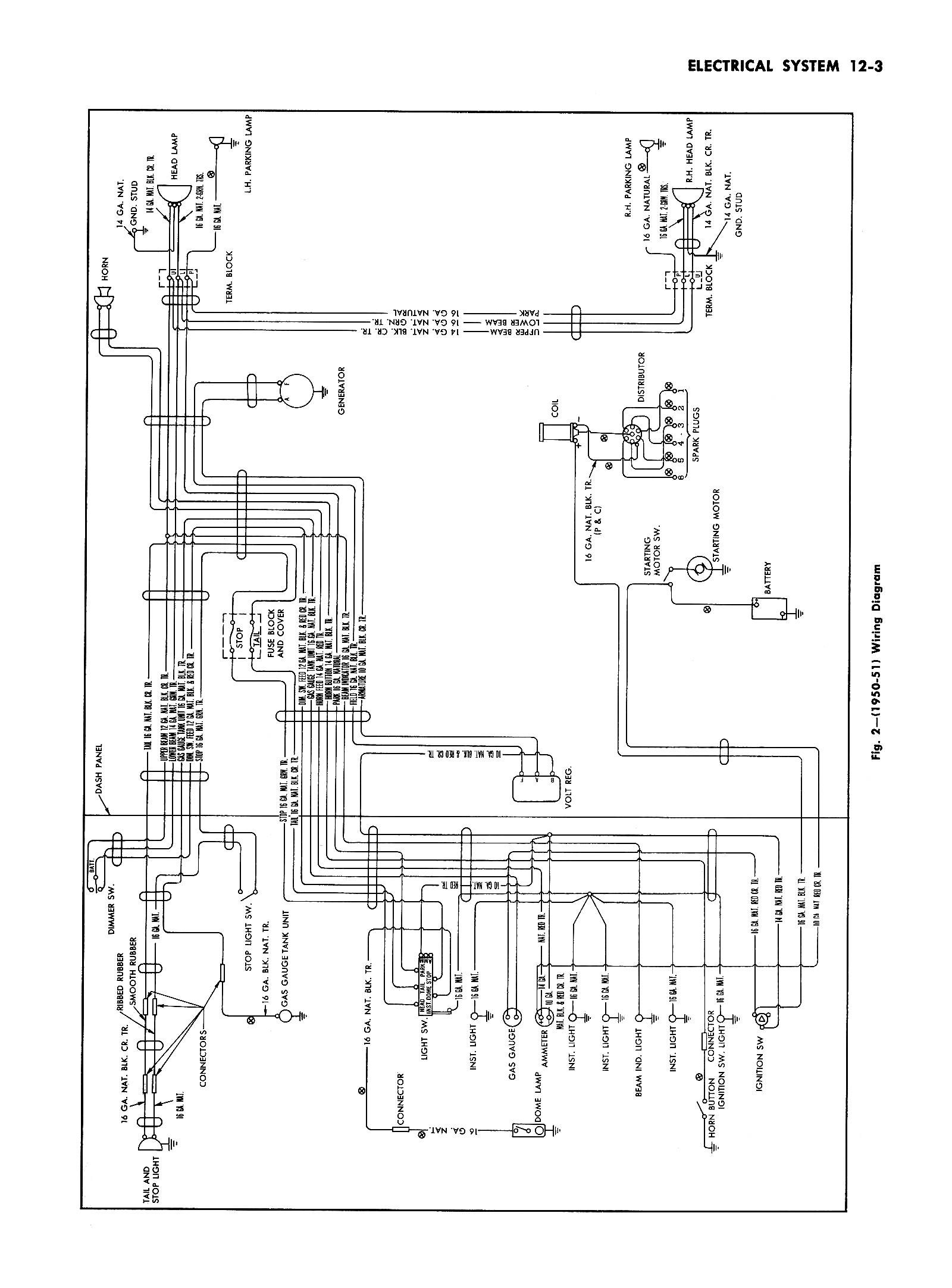 1950 Passenger Car Wiring