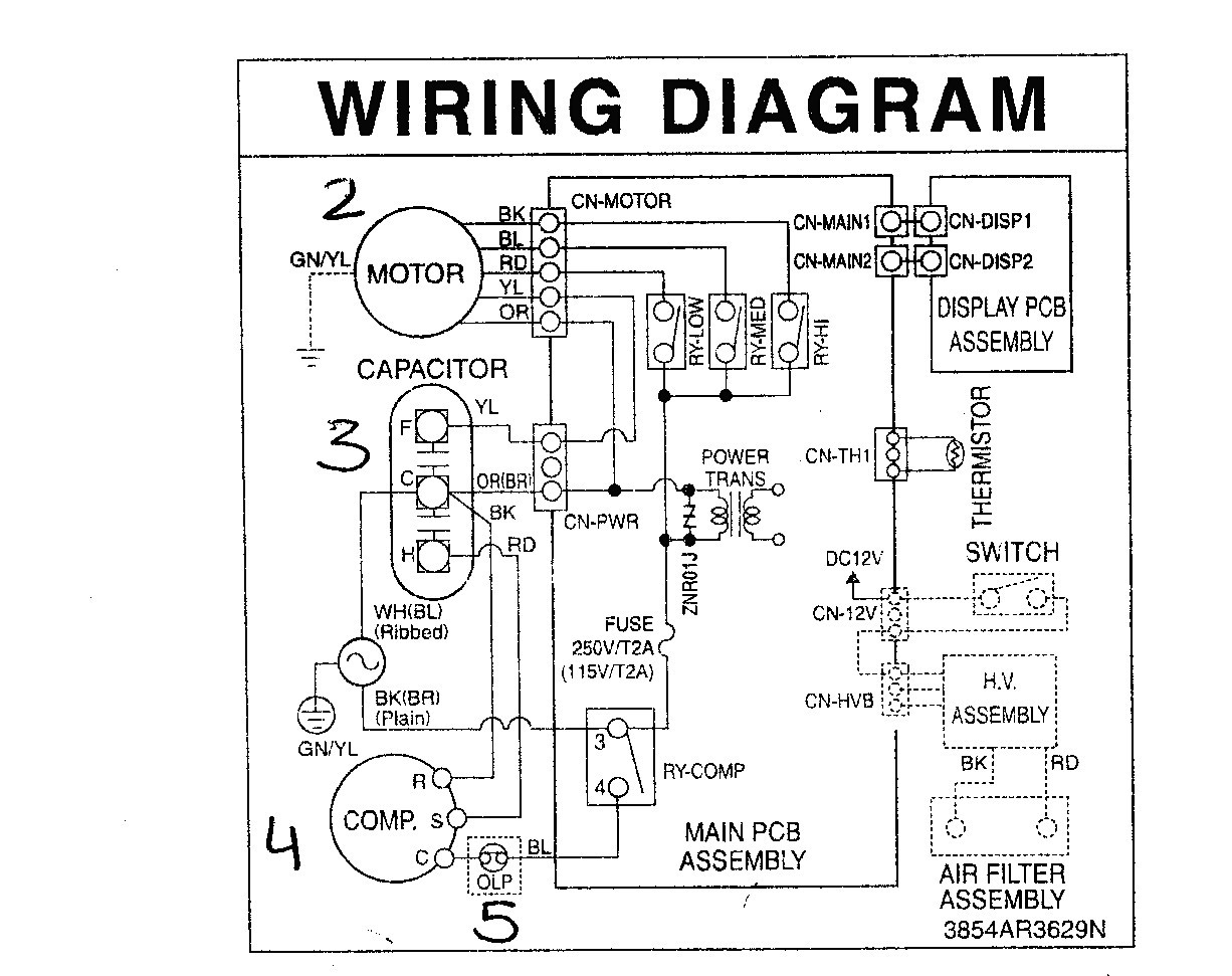 Ac Wiring Diagram Central Air Conditioner Split Brilliant Hvac Unbelievable