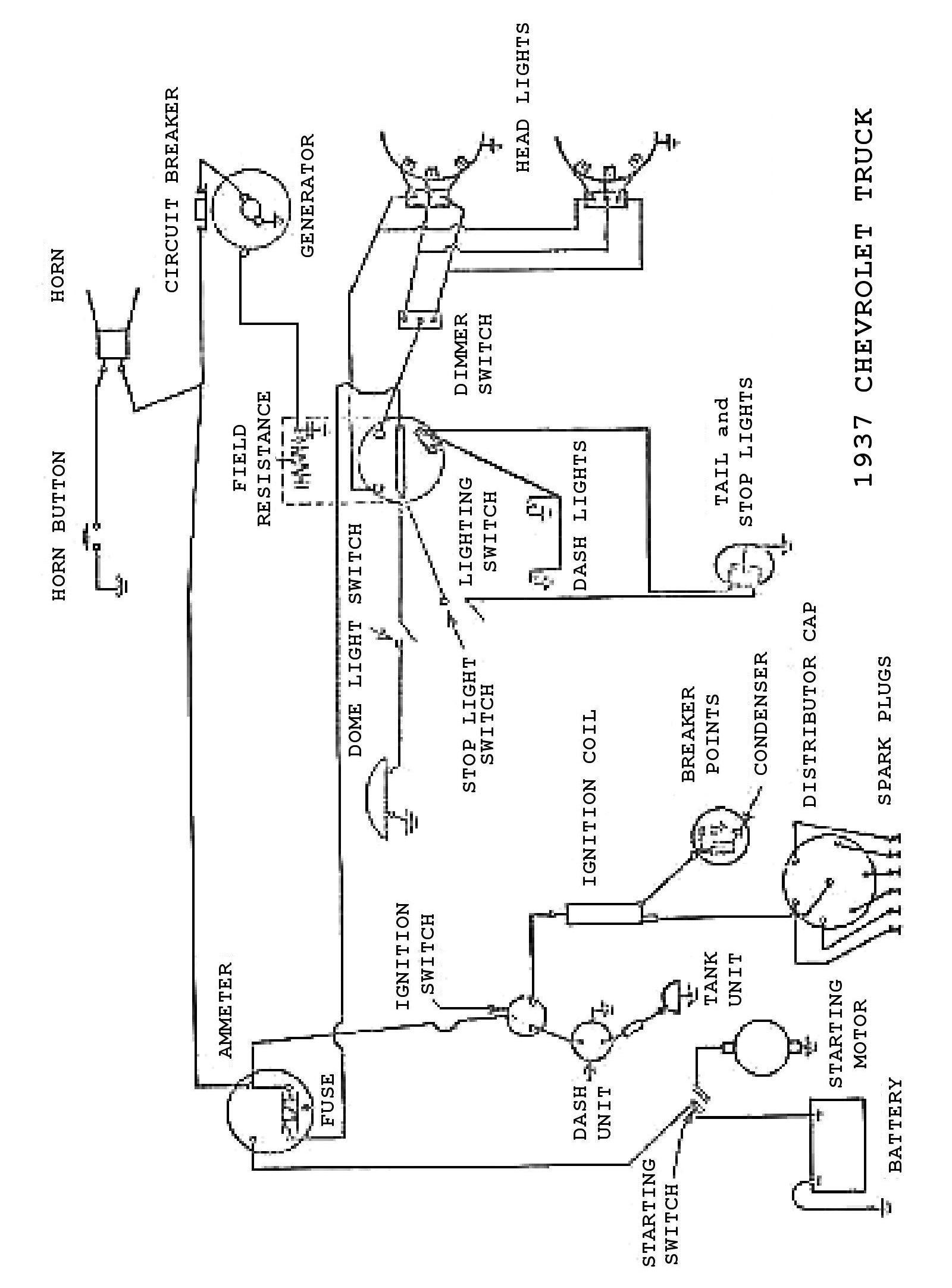 1937 Truck Wiring