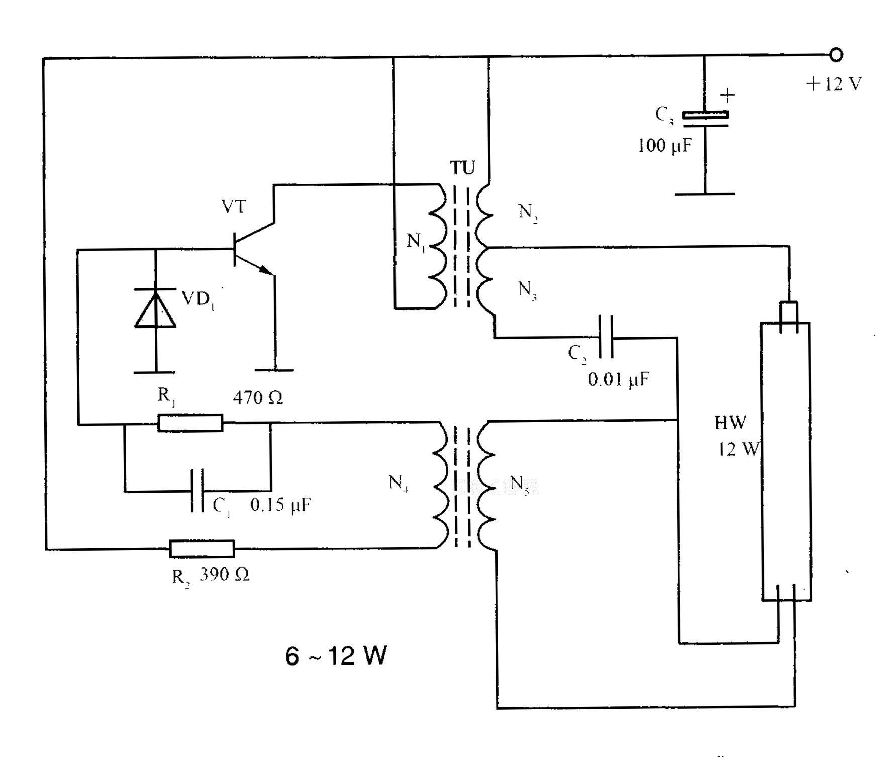 Fluorescent Circuit Light Laser Led Circuits Next Gr Lighting Inverter Principle 12w Lamps circuit drawing