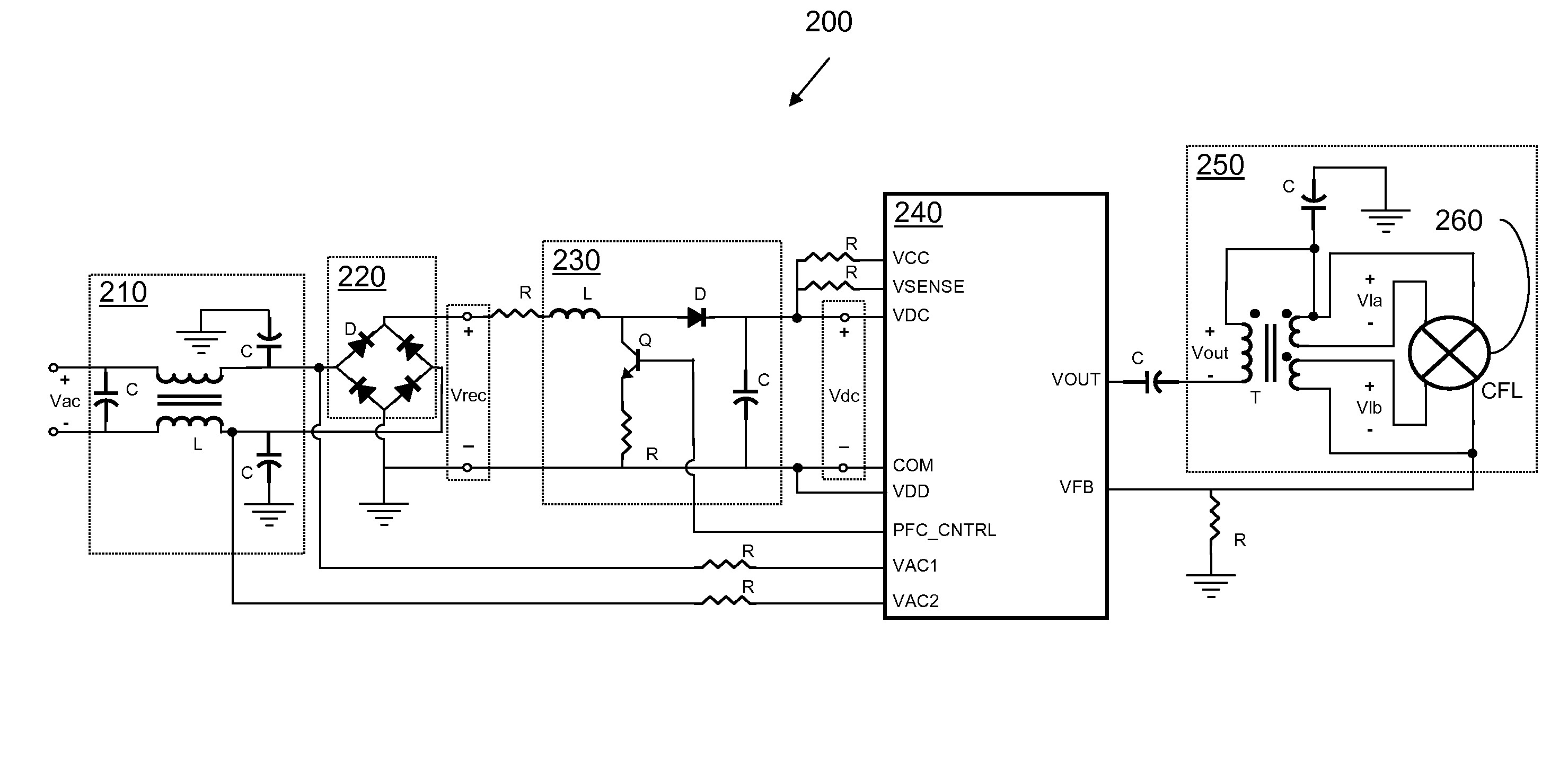 Patent Us Fluorescent Lamp Dimmer With Multi Function Drawing electrical wire 12 gauge simple Diagram